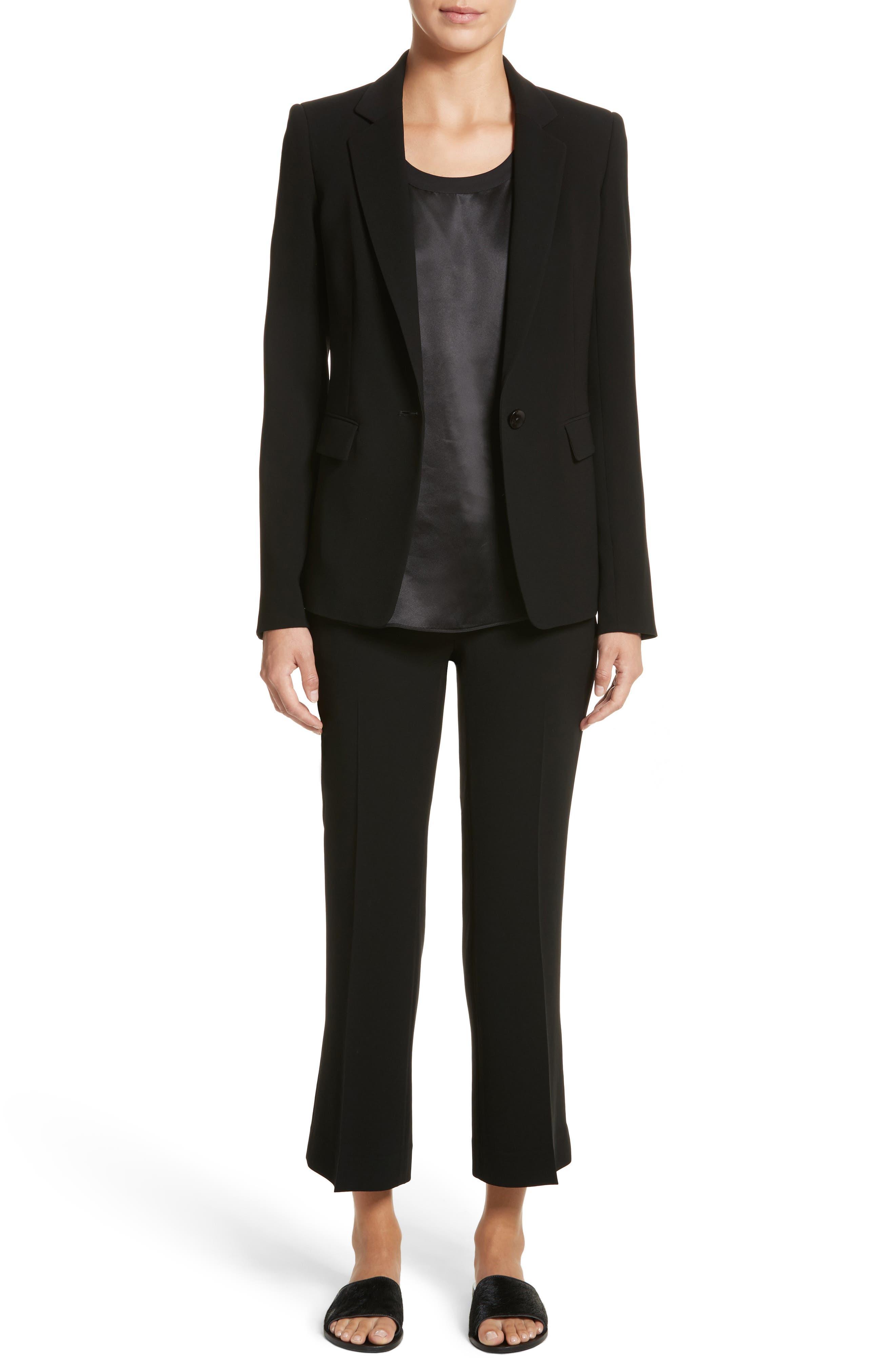 Lyndon Finesse Crepe Blazer,                         Main,                         color, Black