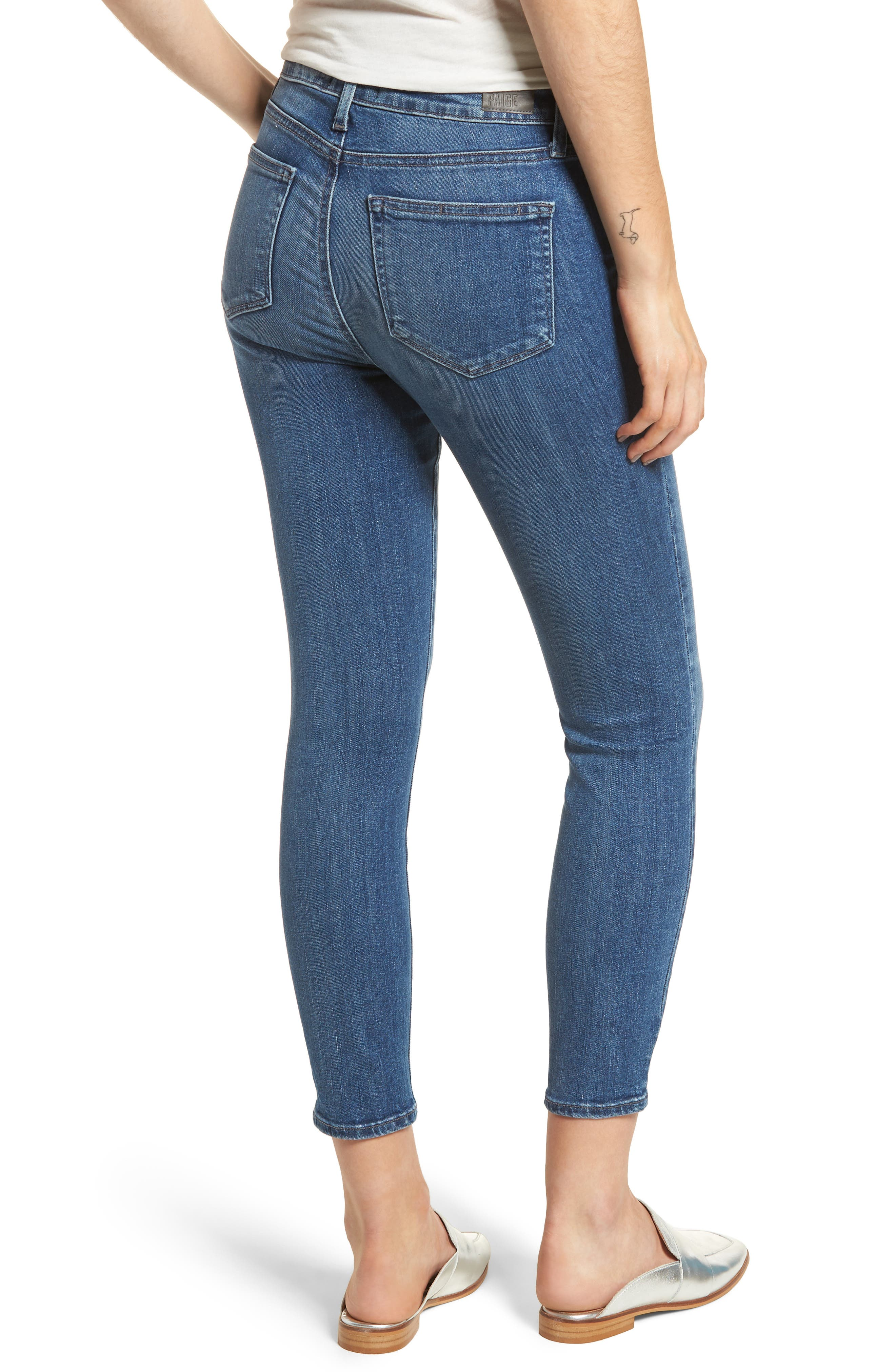 Hoxton High Waist Ankle Skinny Jeans,                             Alternate thumbnail 2, color,                             Bloomfield