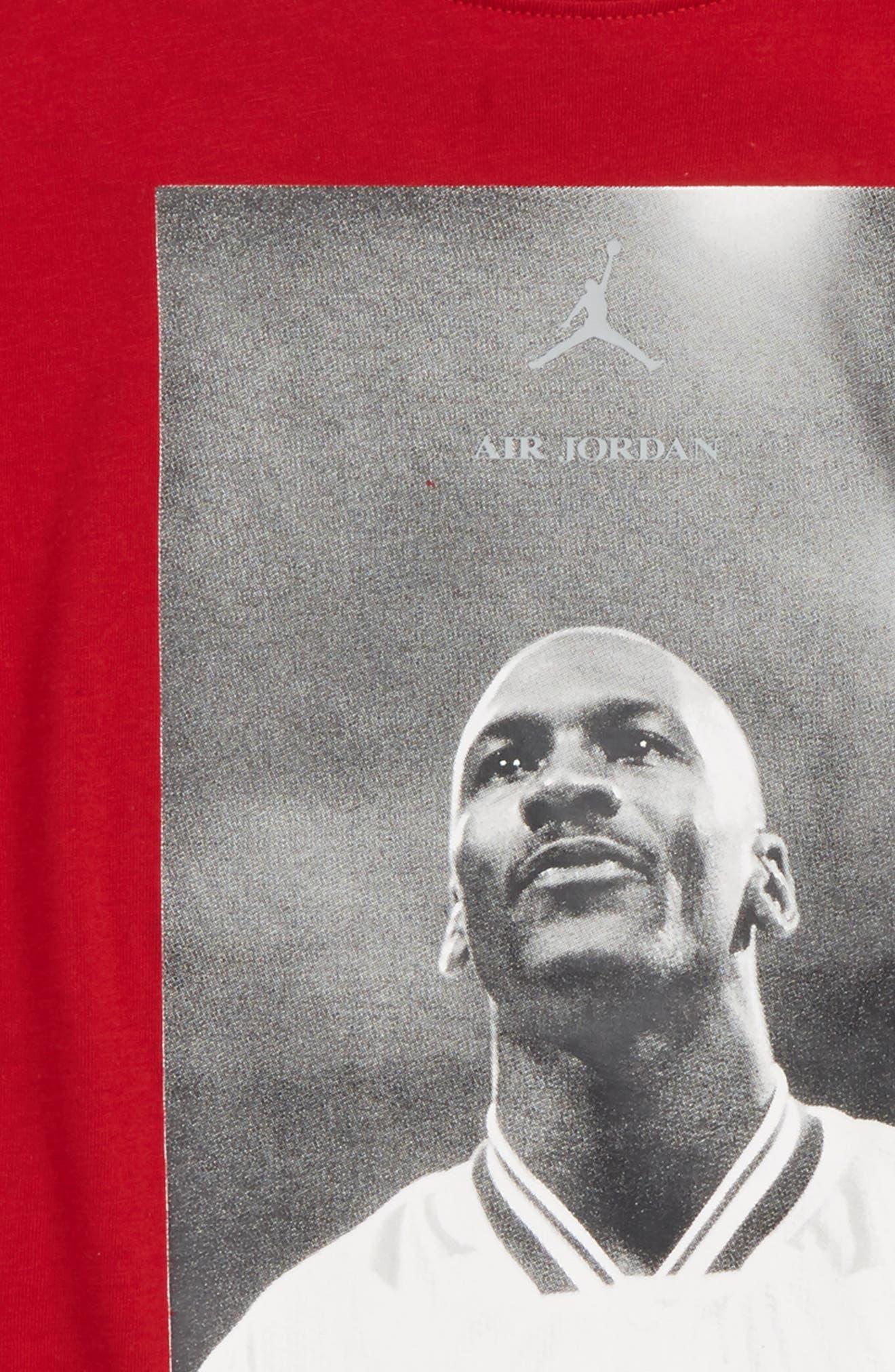 Jordan Wings FLC 3 Screenprint T-Shirt,                             Alternate thumbnail 2, color,                             Gym Red