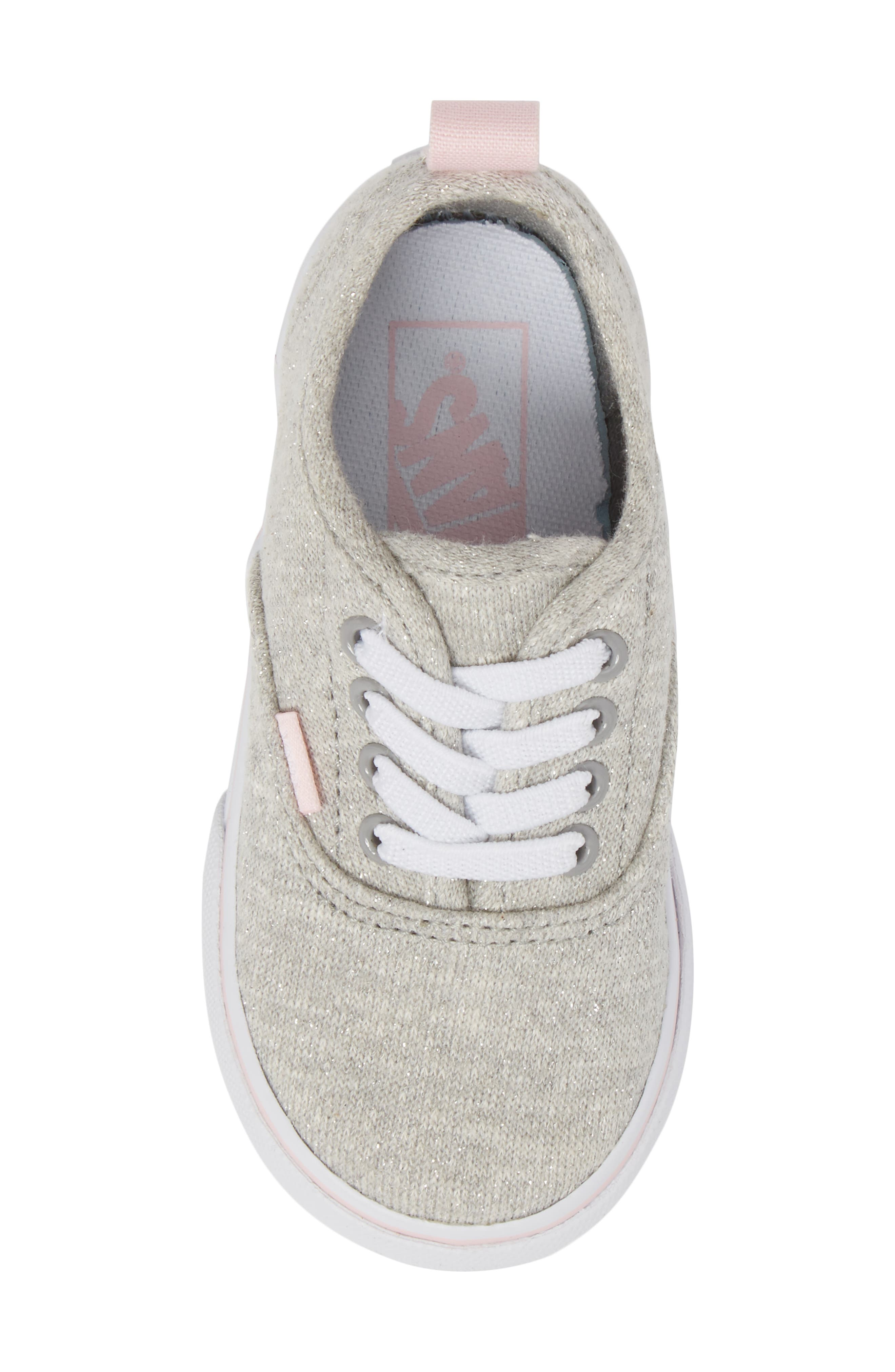 Authentic Glitter Sneaker,                             Alternate thumbnail 5, color,                             Gray/ Pink Shimmer Jersey