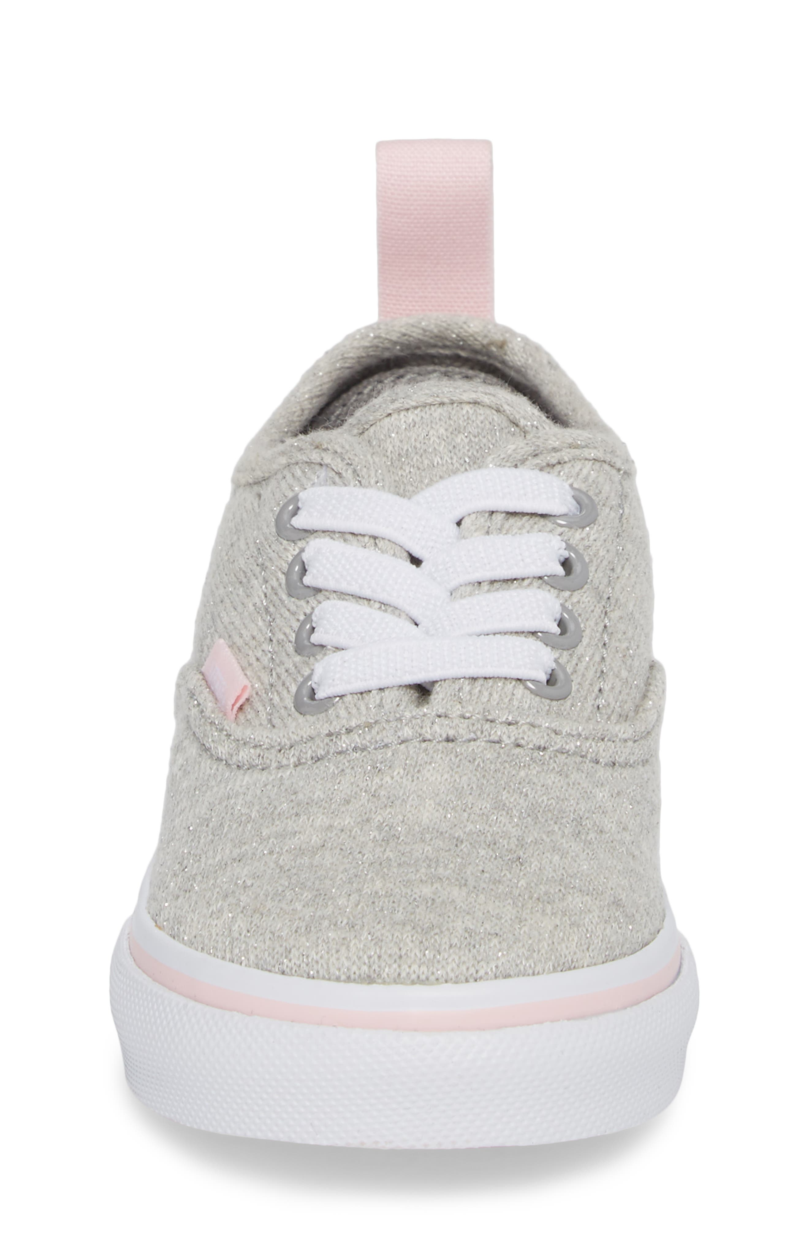 Authentic Glitter Sneaker,                             Alternate thumbnail 4, color,                             Gray/ Pink Shimmer Jersey