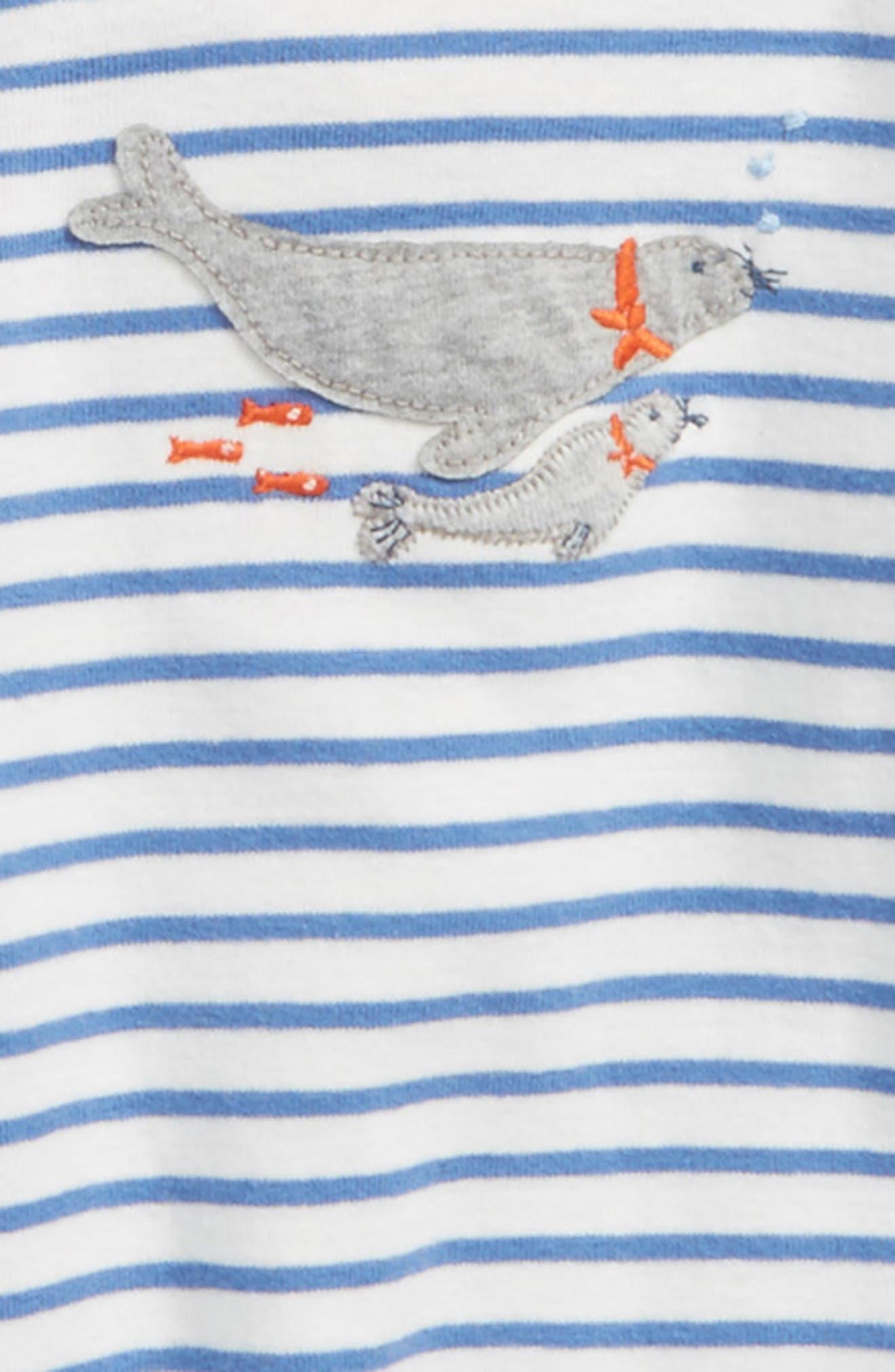 Alternate Image 2  - Mini Boden 3-Pack Seals Cotton Bodysuits (Baby Boys)