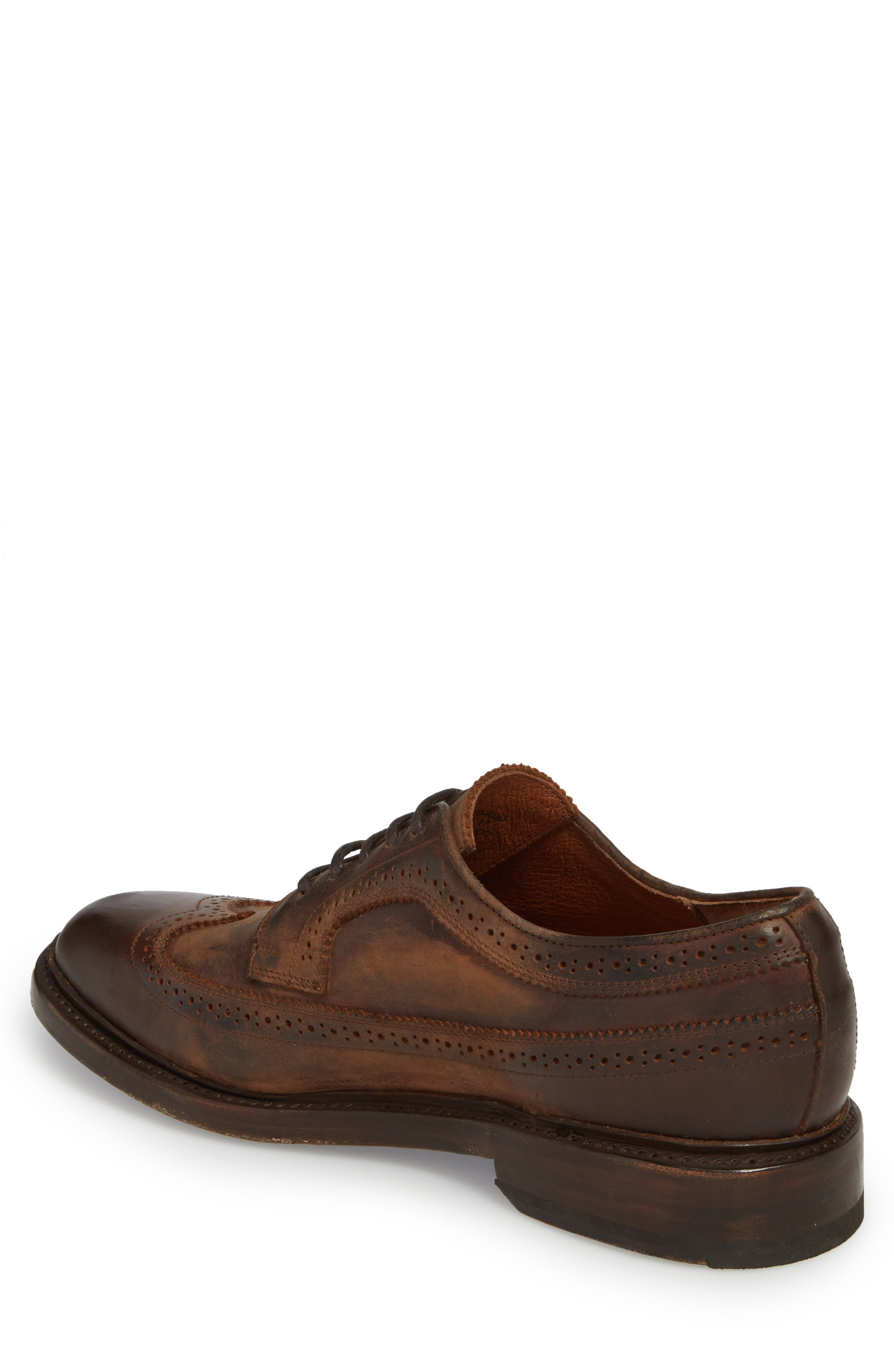 Jones Wingtip,                             Alternate thumbnail 2, color,                             Redwood Leather
