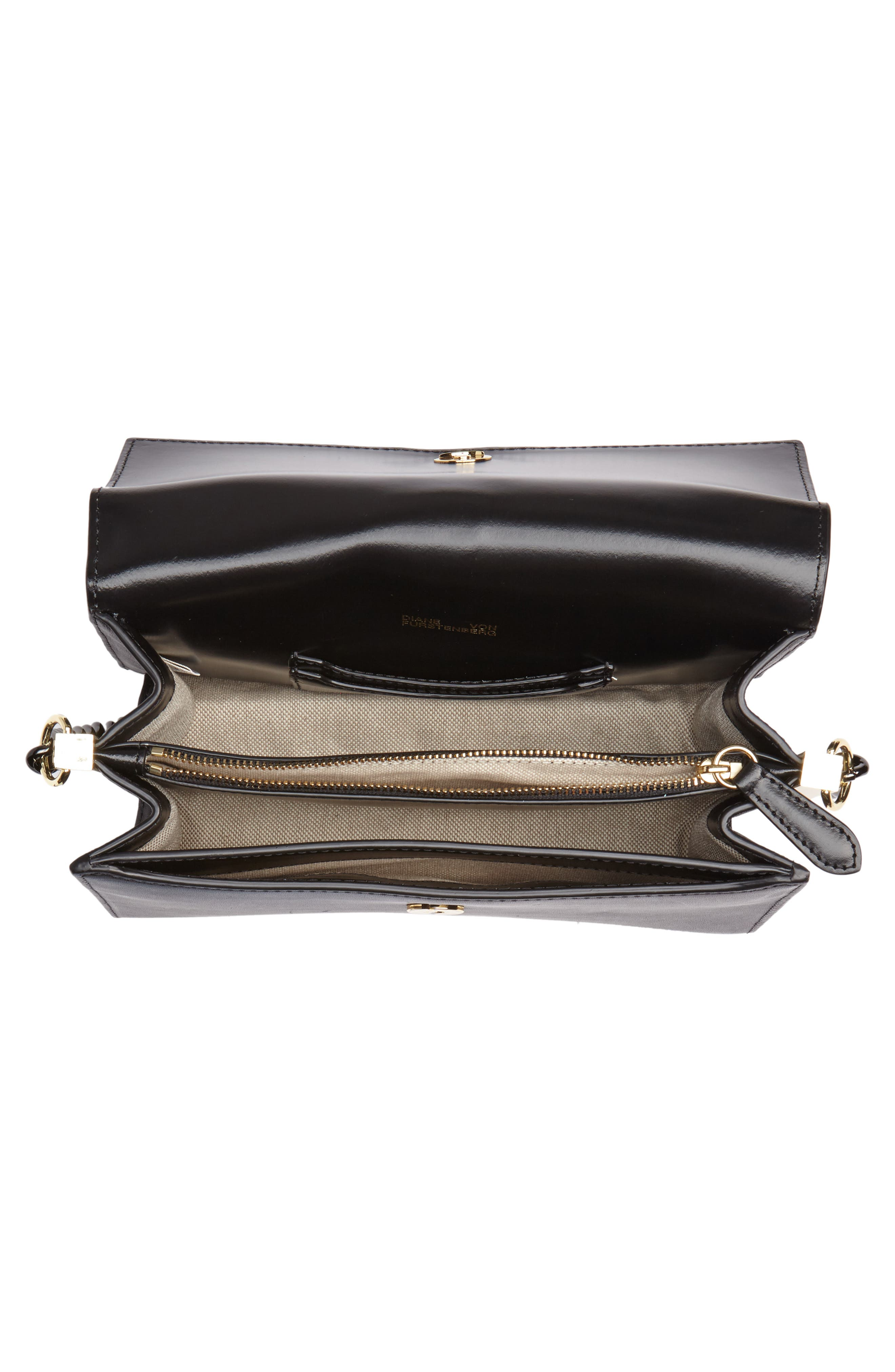 Bonne Journée Leather & Genuine Snakeskin Crossbody Bag,                             Alternate thumbnail 4, color,                             Black