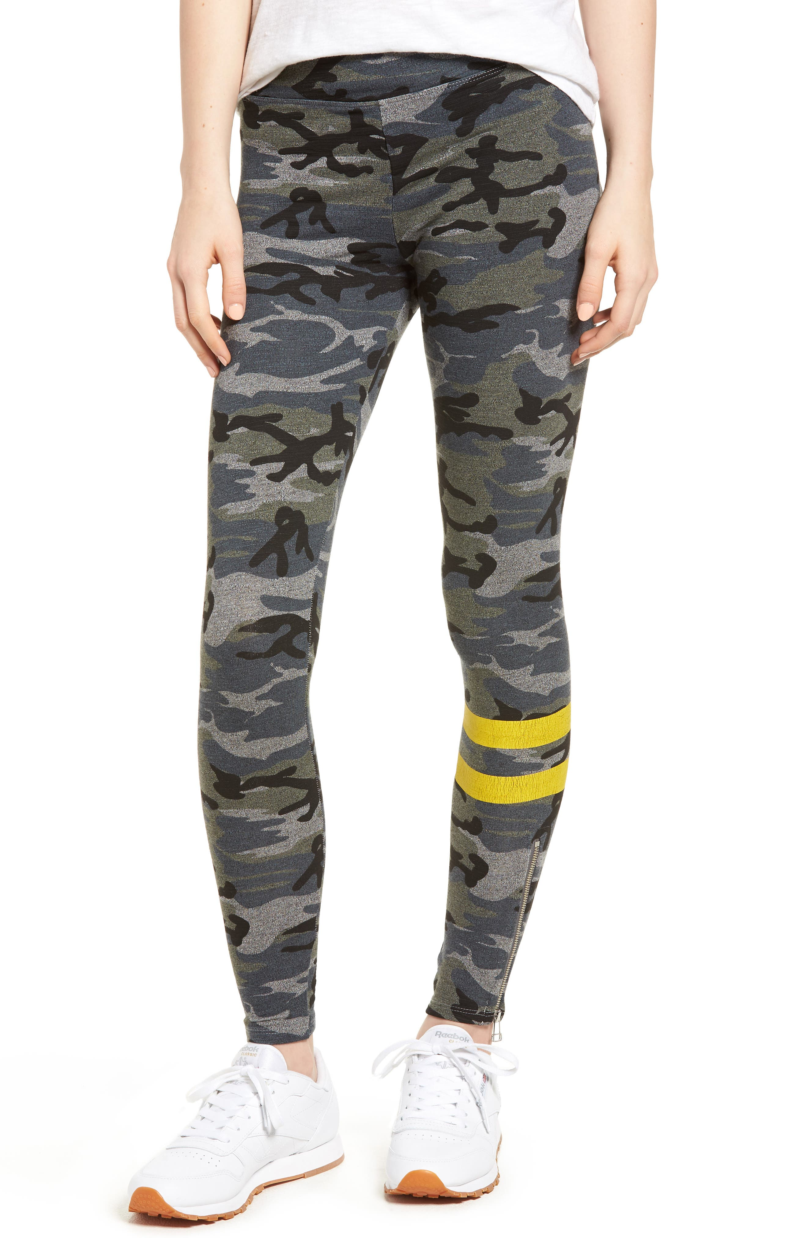 Stripe Camo Yoga Pants,                         Main,                         color, Grey
