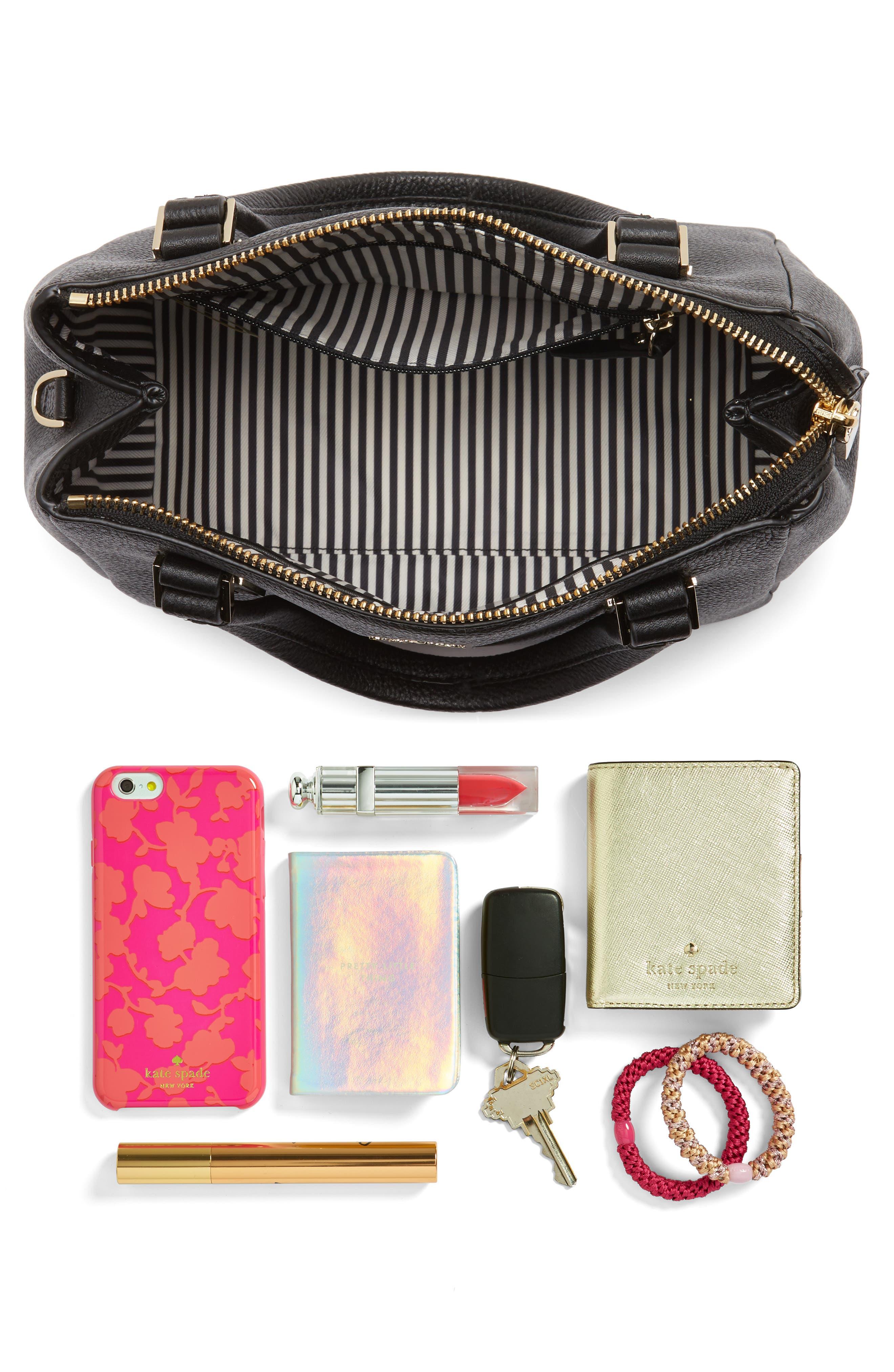 kingston drive - small alena leather satchel,                             Alternate thumbnail 7, color,