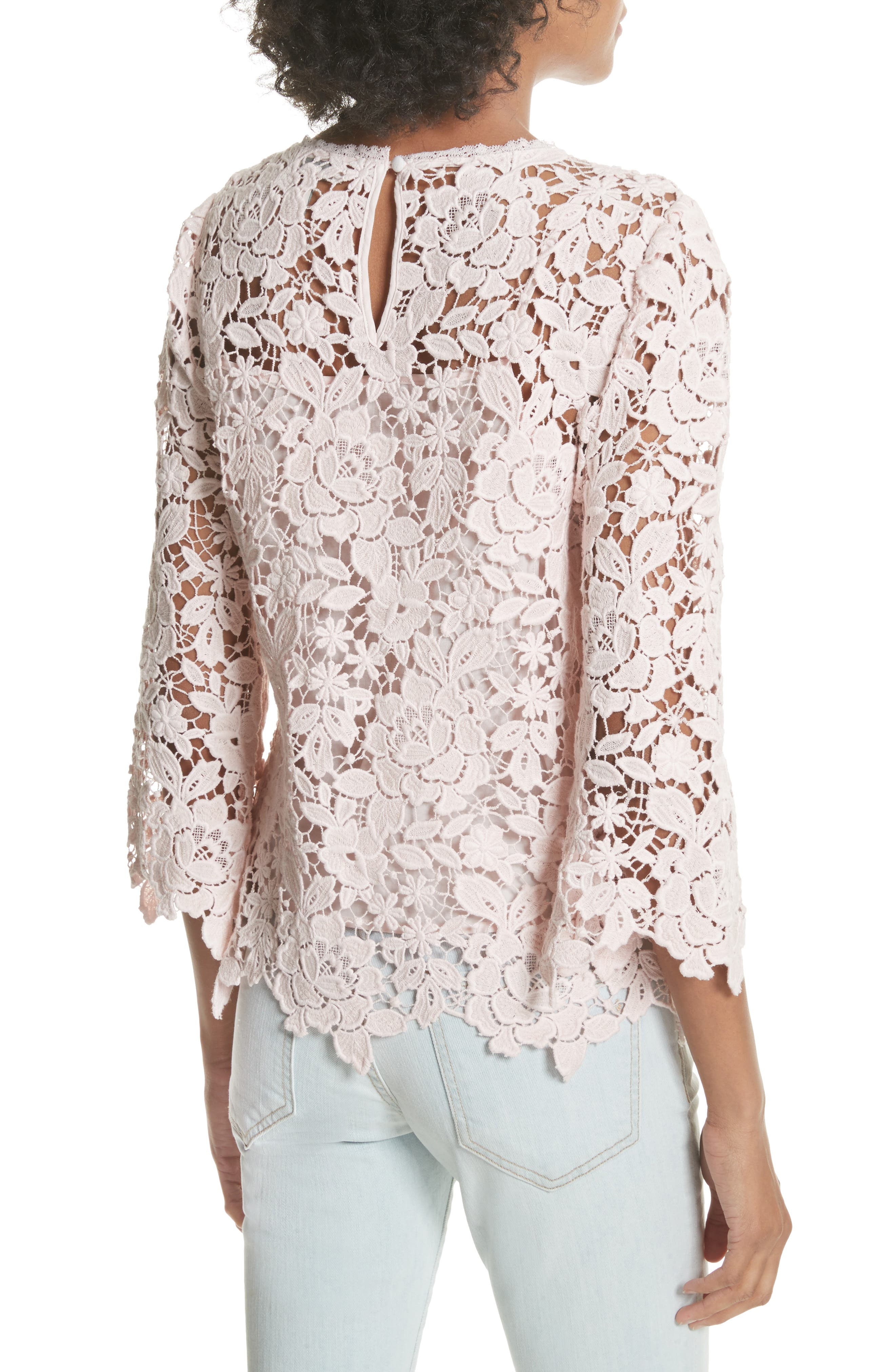 Charnette Lace Top,                             Alternate thumbnail 2, color,                             Rosewater