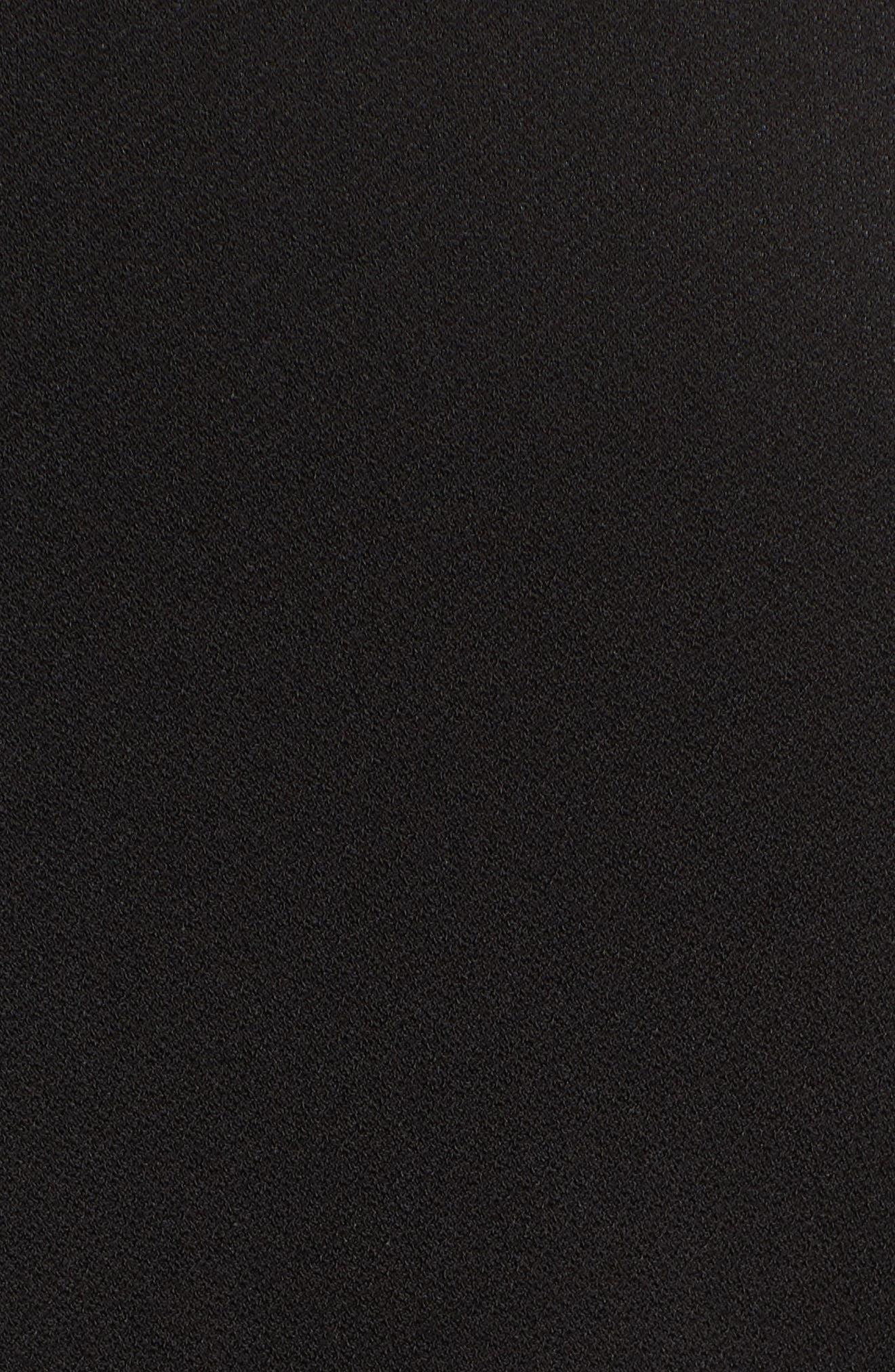 Rivet Split Sleeve Top,                             Alternate thumbnail 6, color,                             060-Rich Black