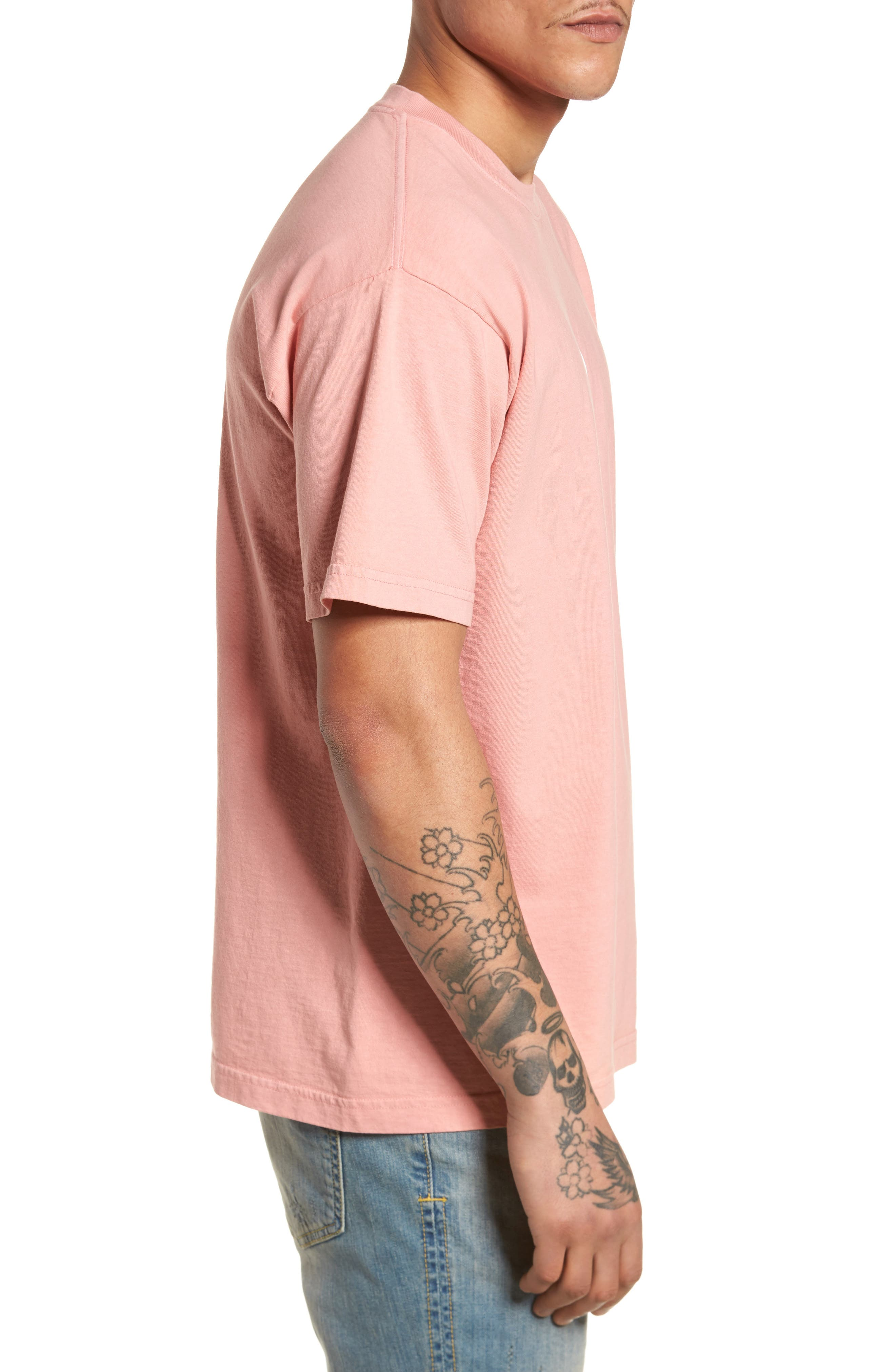 The Next Wave Boxy T-Shirt,                             Alternate thumbnail 3, color,                             Coral