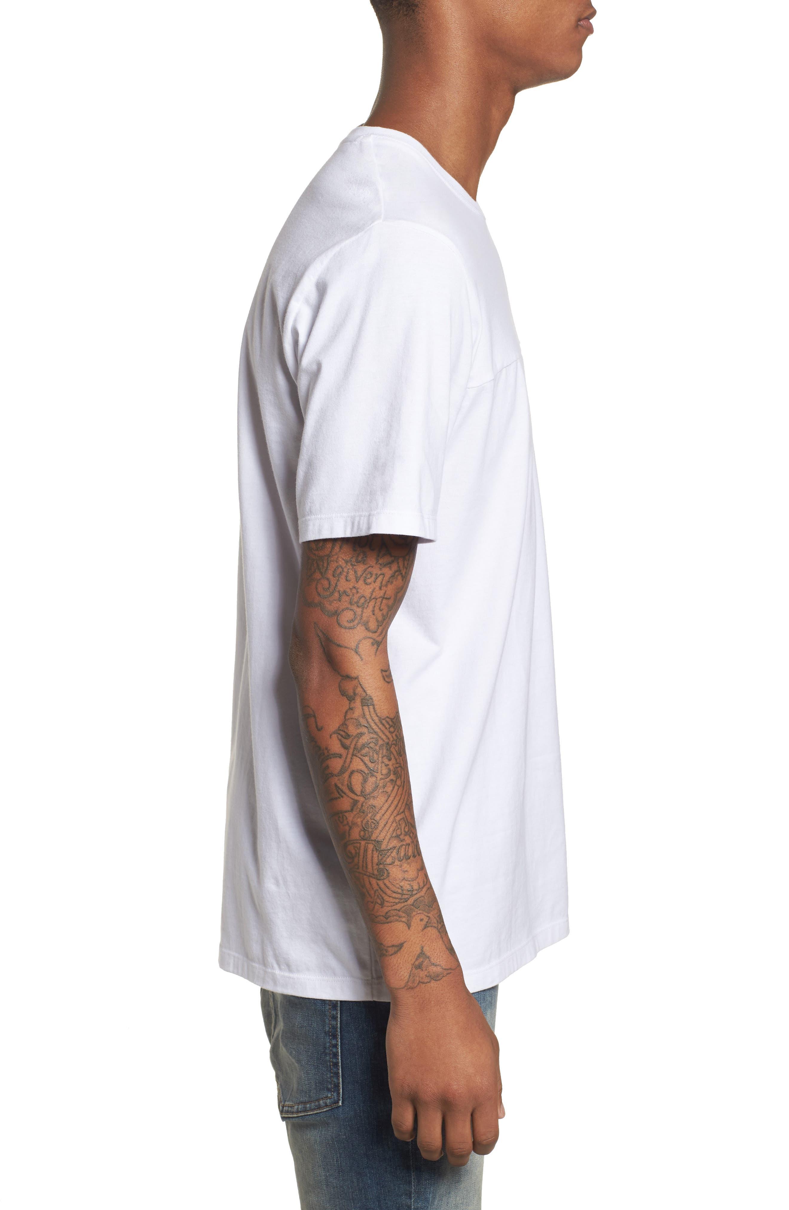 Colorblocked Logo T-Shirt,                             Alternate thumbnail 3, color,                             White