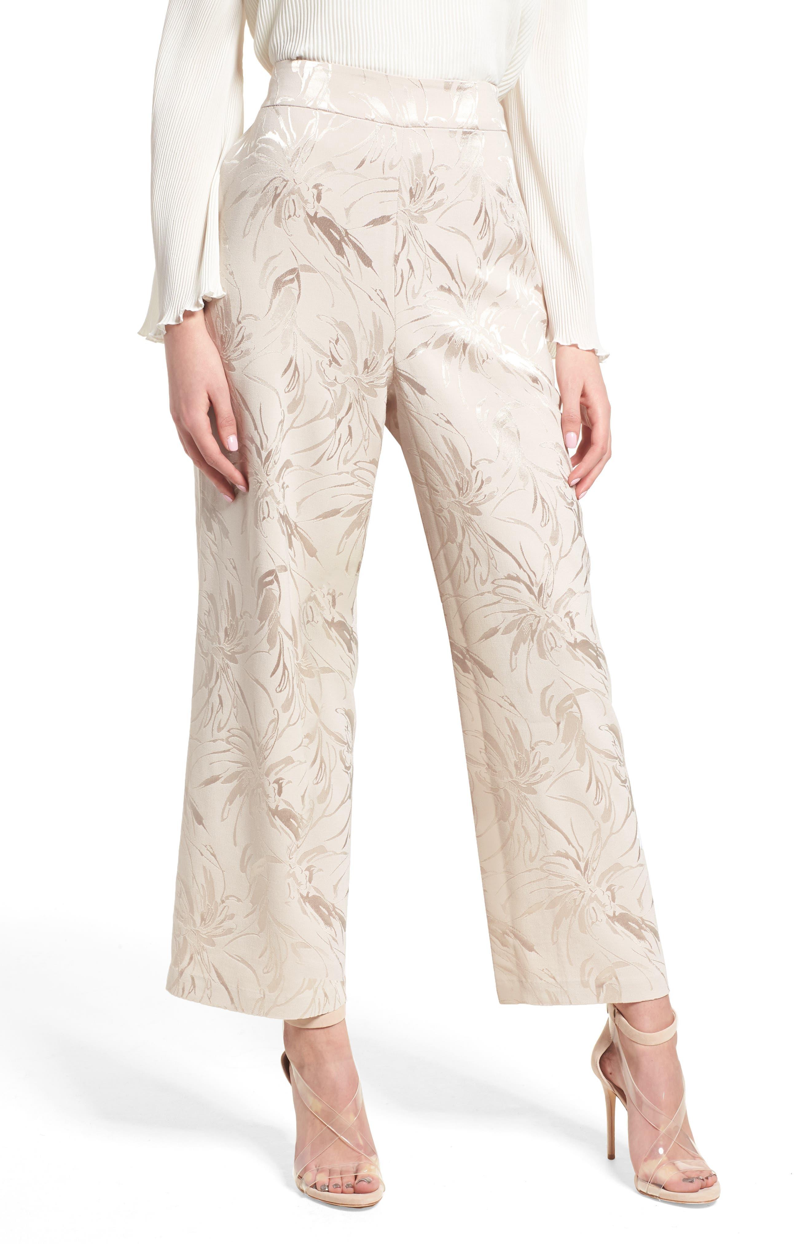Leith High Waist Jacquard Pants