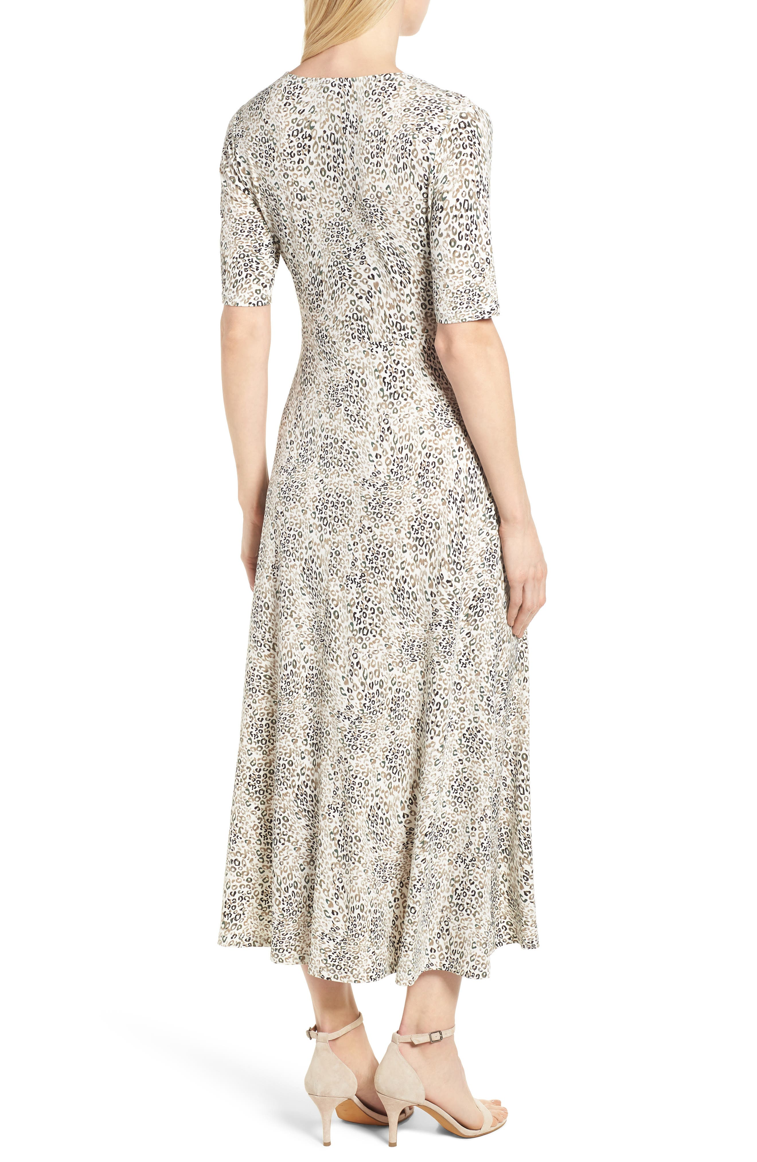 Leopard Print Maxi Dress,                             Alternate thumbnail 2, color,                             103-New Ivory