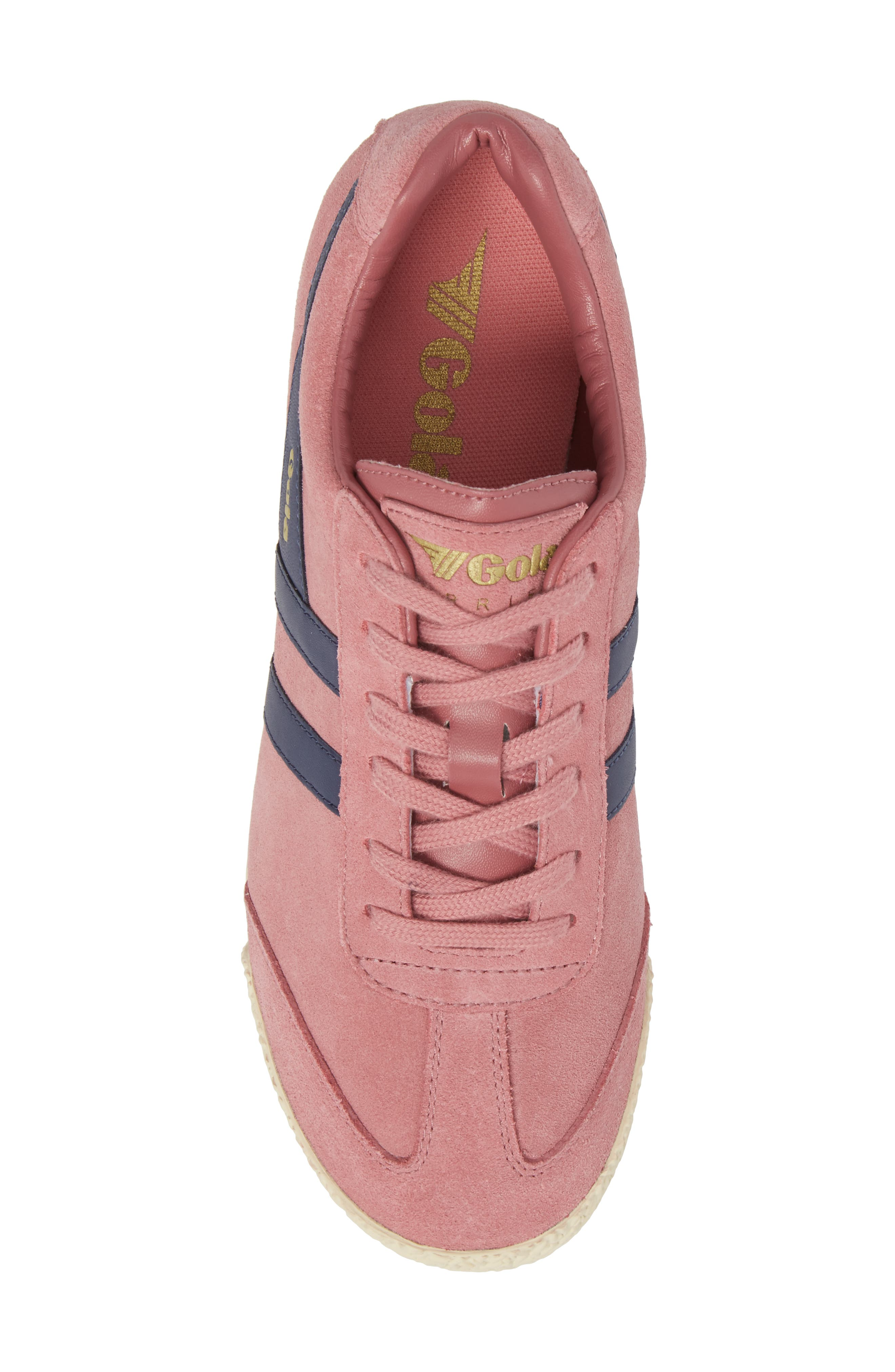 Harrier Suede Low Top Sneaker,                             Alternate thumbnail 5, color,                             Dusty Rose/ Navy