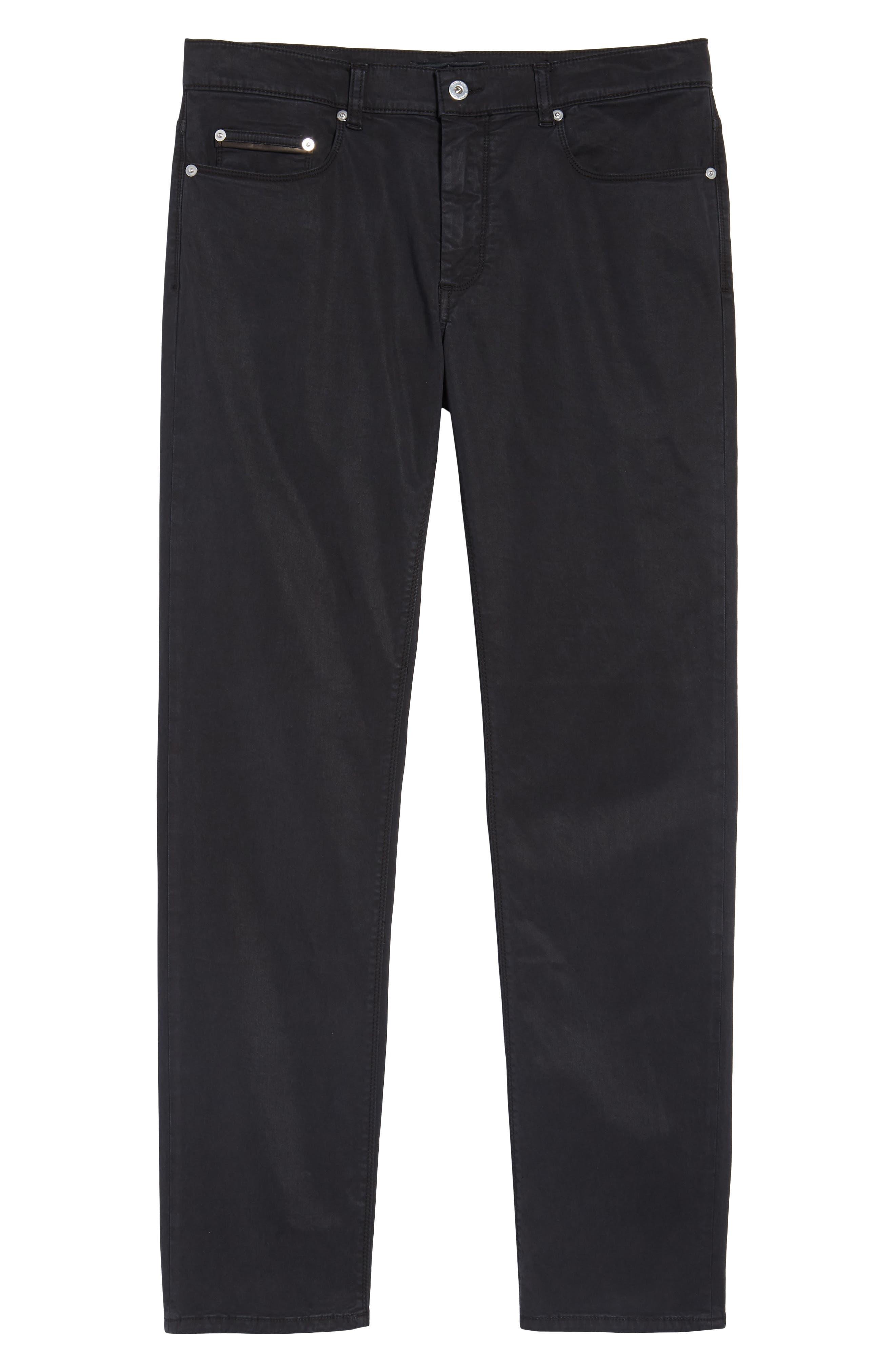 Slim Fit Washed Five-Pocket Pants,                             Alternate thumbnail 6, color,                             Black