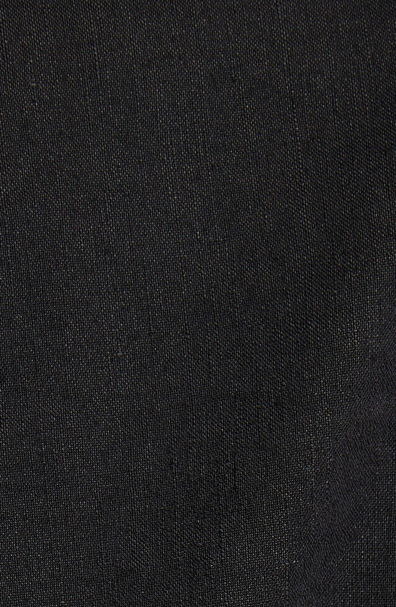 Belted Shift Dress,                             Alternate thumbnail 5, color,                             Black Multi