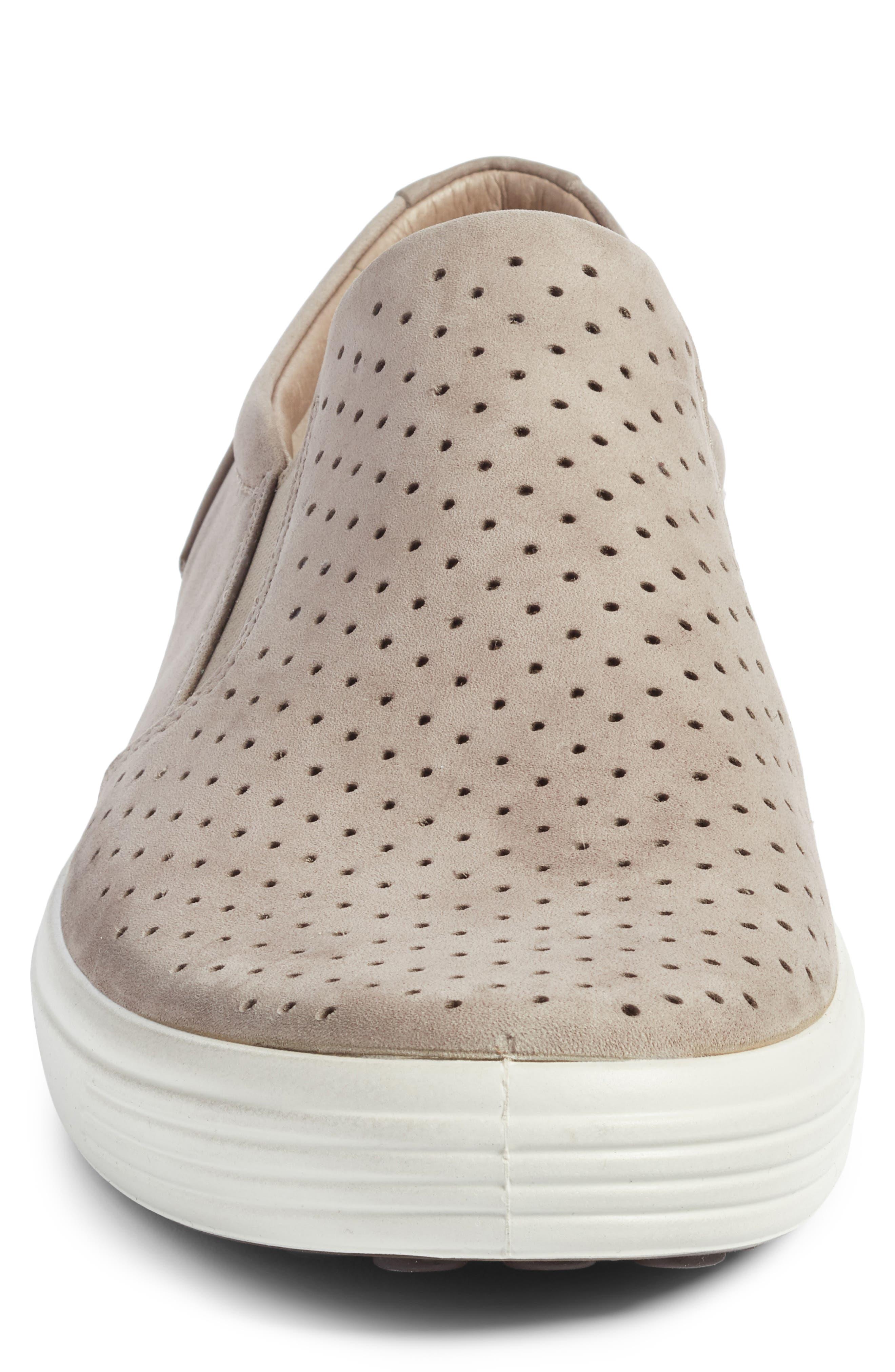 Soft 7 Retro Slip-On Sneaker,                             Alternate thumbnail 4, color,                             Moonrock Leather