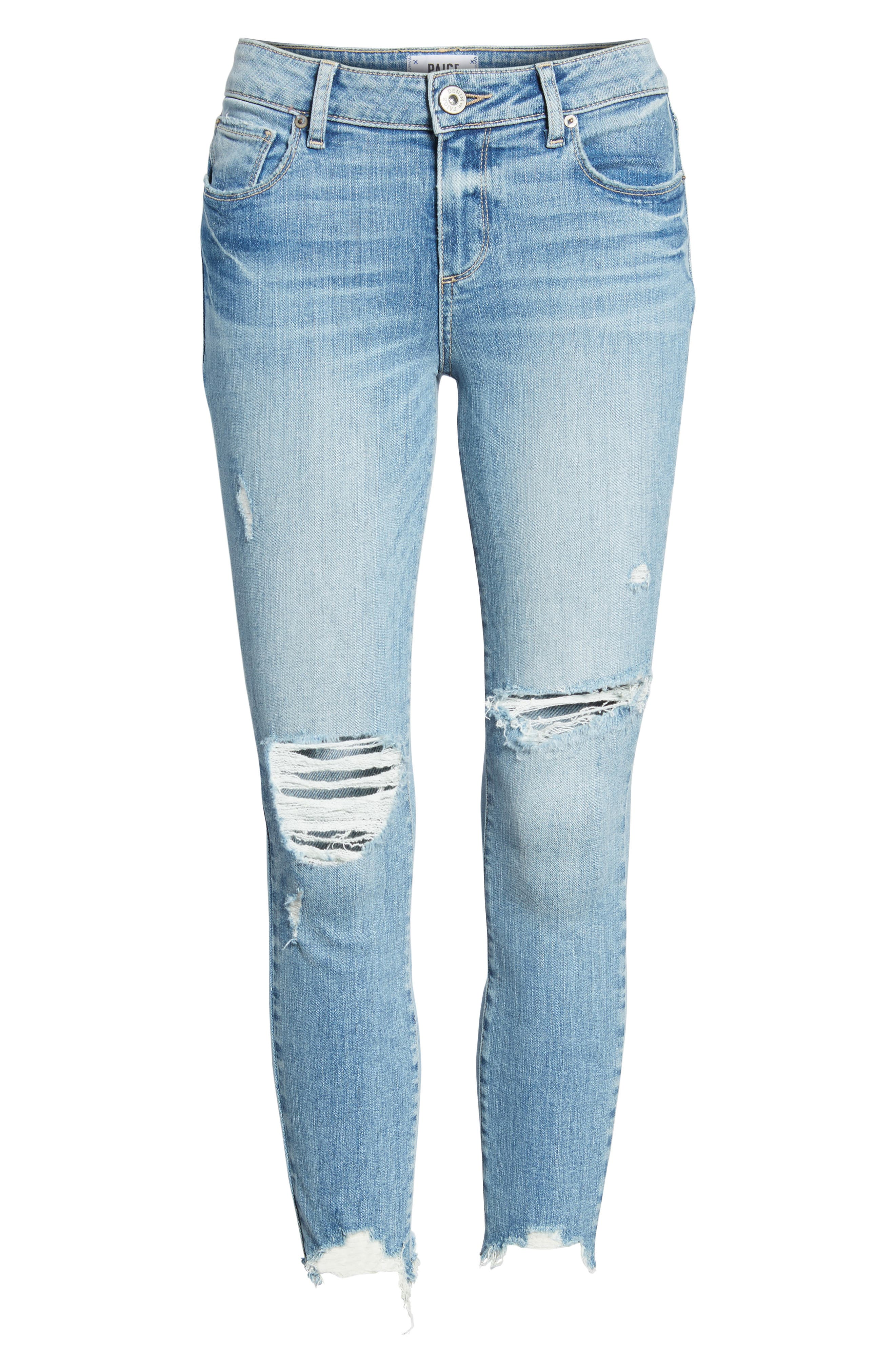 Verdugo Ripped Crop Ultra Skinny Jeans,                             Alternate thumbnail 7, color,                             Janis Destructed