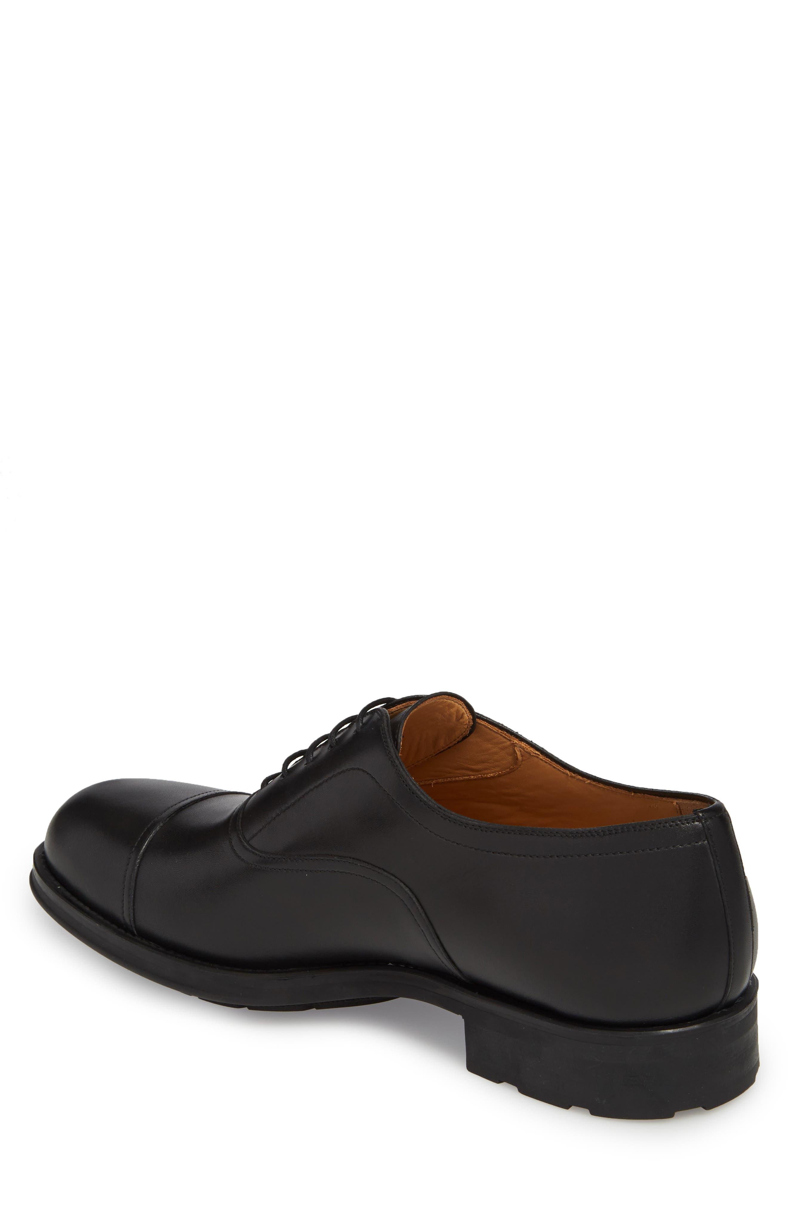 Tadeo Cap Toe Oxford,                             Alternate thumbnail 2, color,                             Black Leather