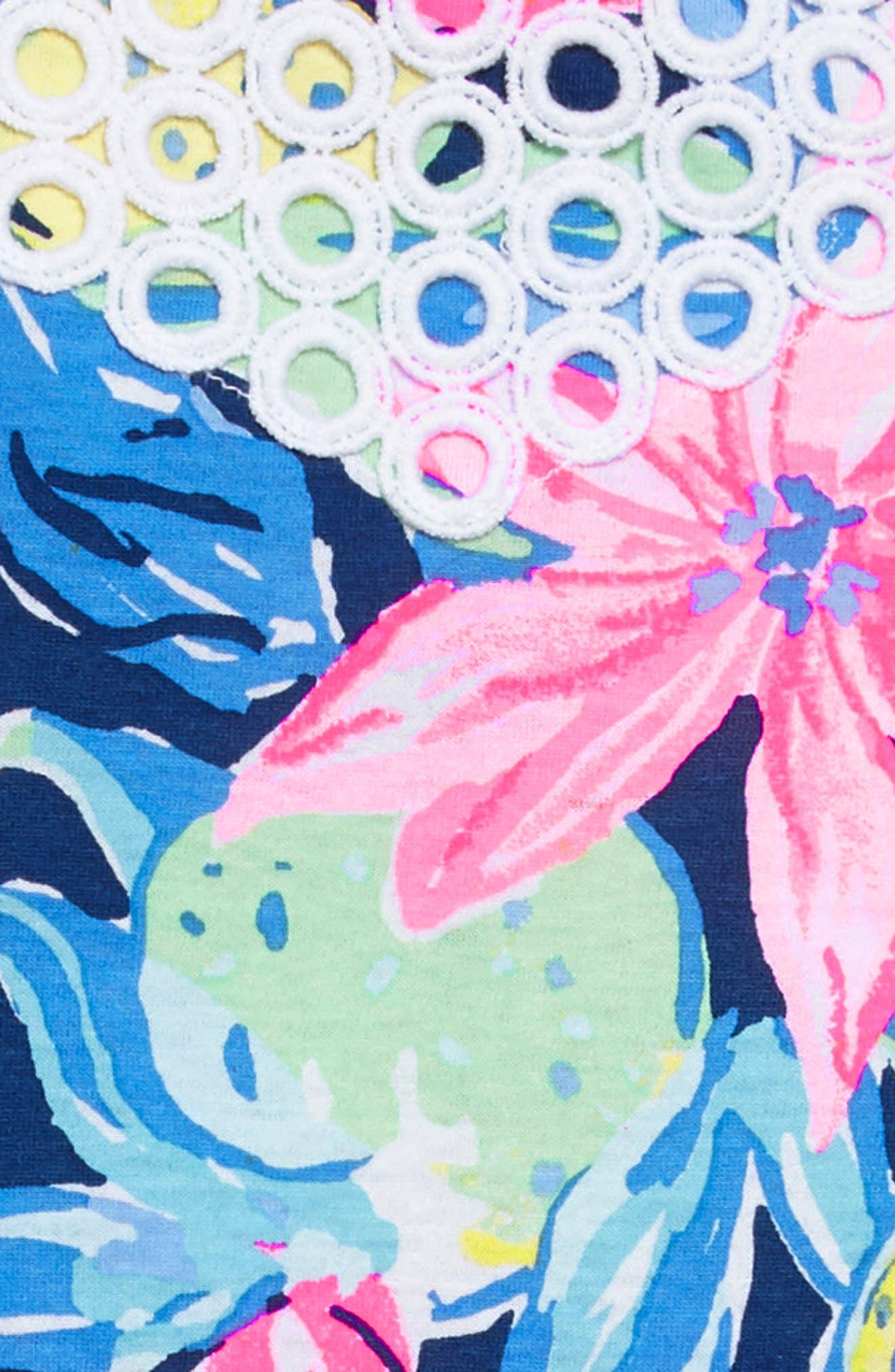 Kinley Halter Dress,                             Alternate thumbnail 3, color,                             Nauti Navy Capri Soleil