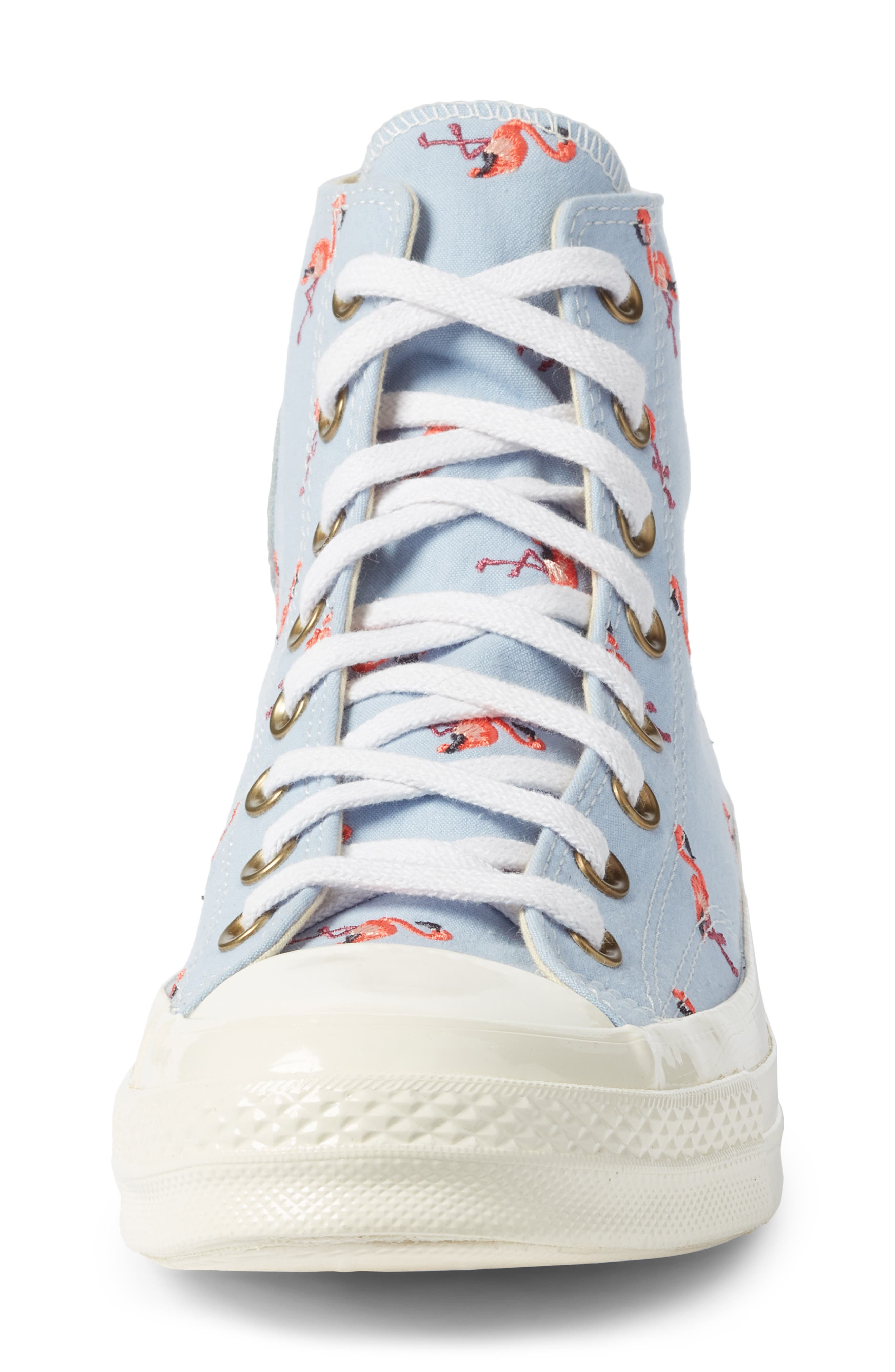 Chuck Taylor<sup>®</sup> All Star<sup>®</sup> Chuck 70 Flamingo Sneaker,                             Alternate thumbnail 4, color,                             Blue Chili