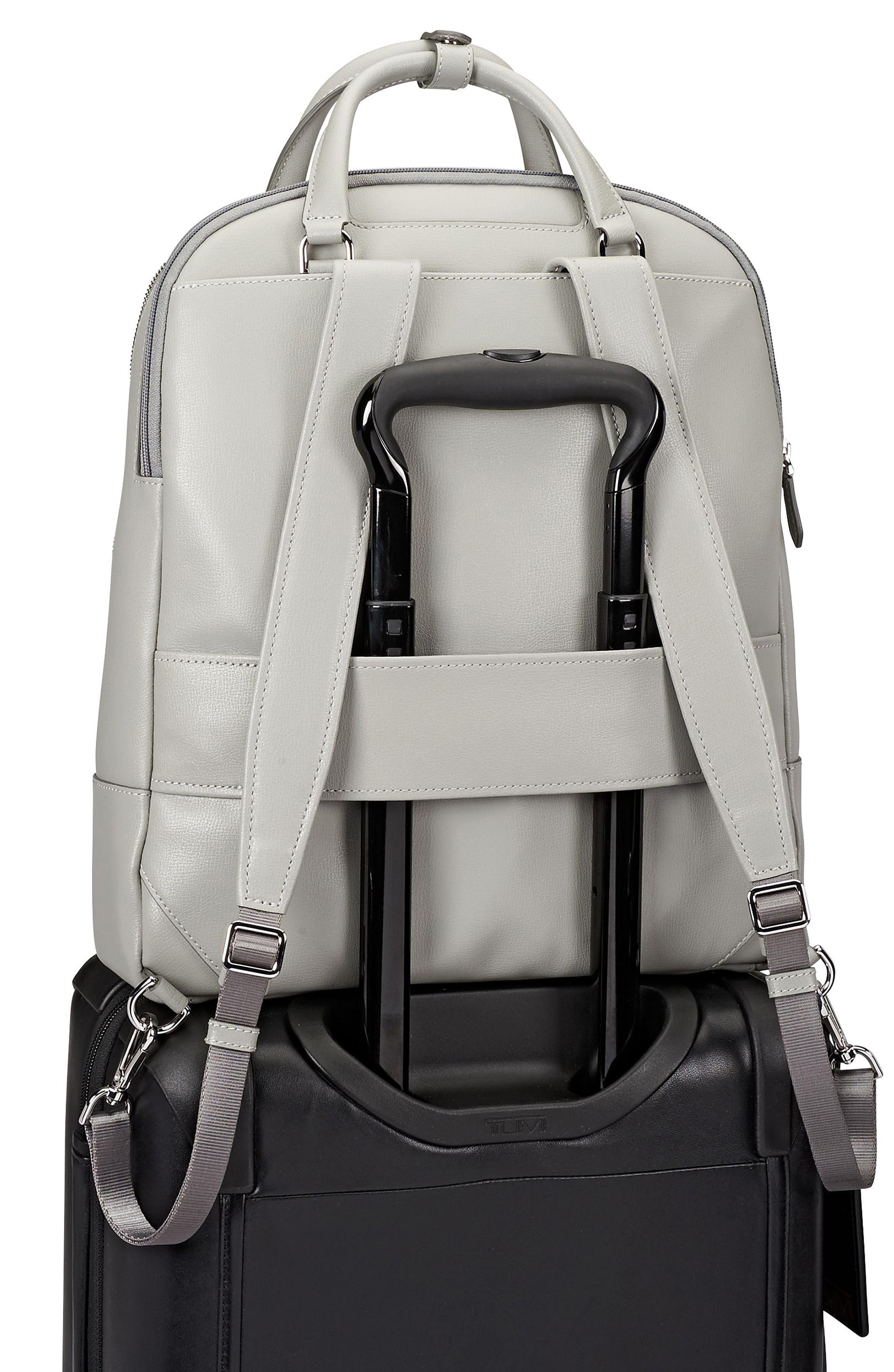 Stanton Orion Leather Backpack,                             Alternate thumbnail 6, color,                             Light Grey