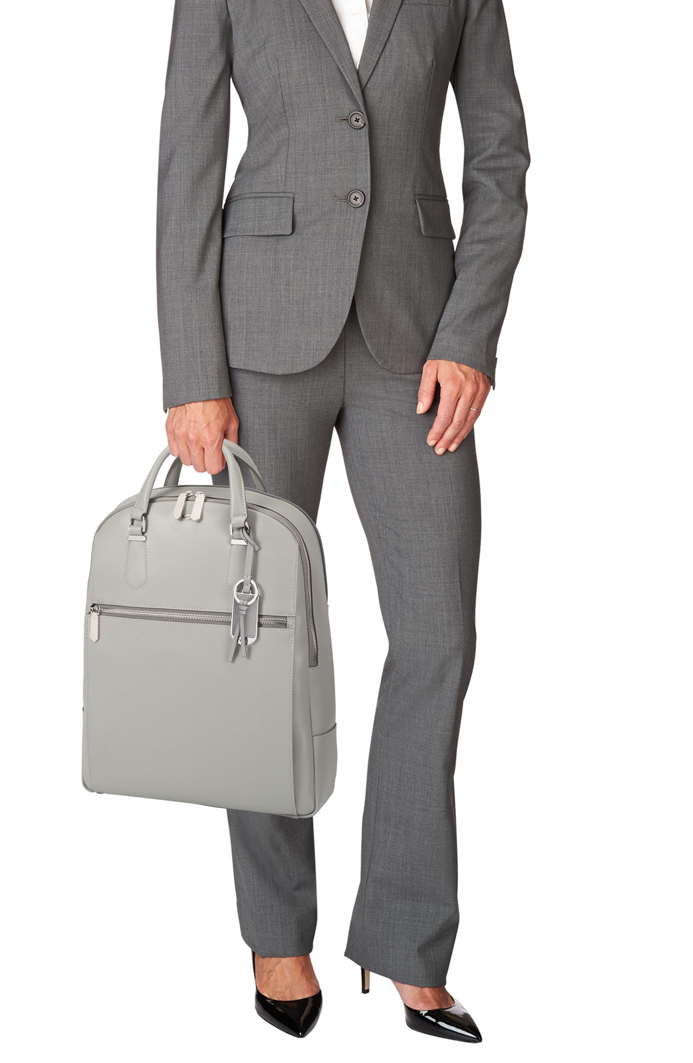 Stanton Orion Leather Backpack,                             Alternate thumbnail 2, color,                             Light Grey