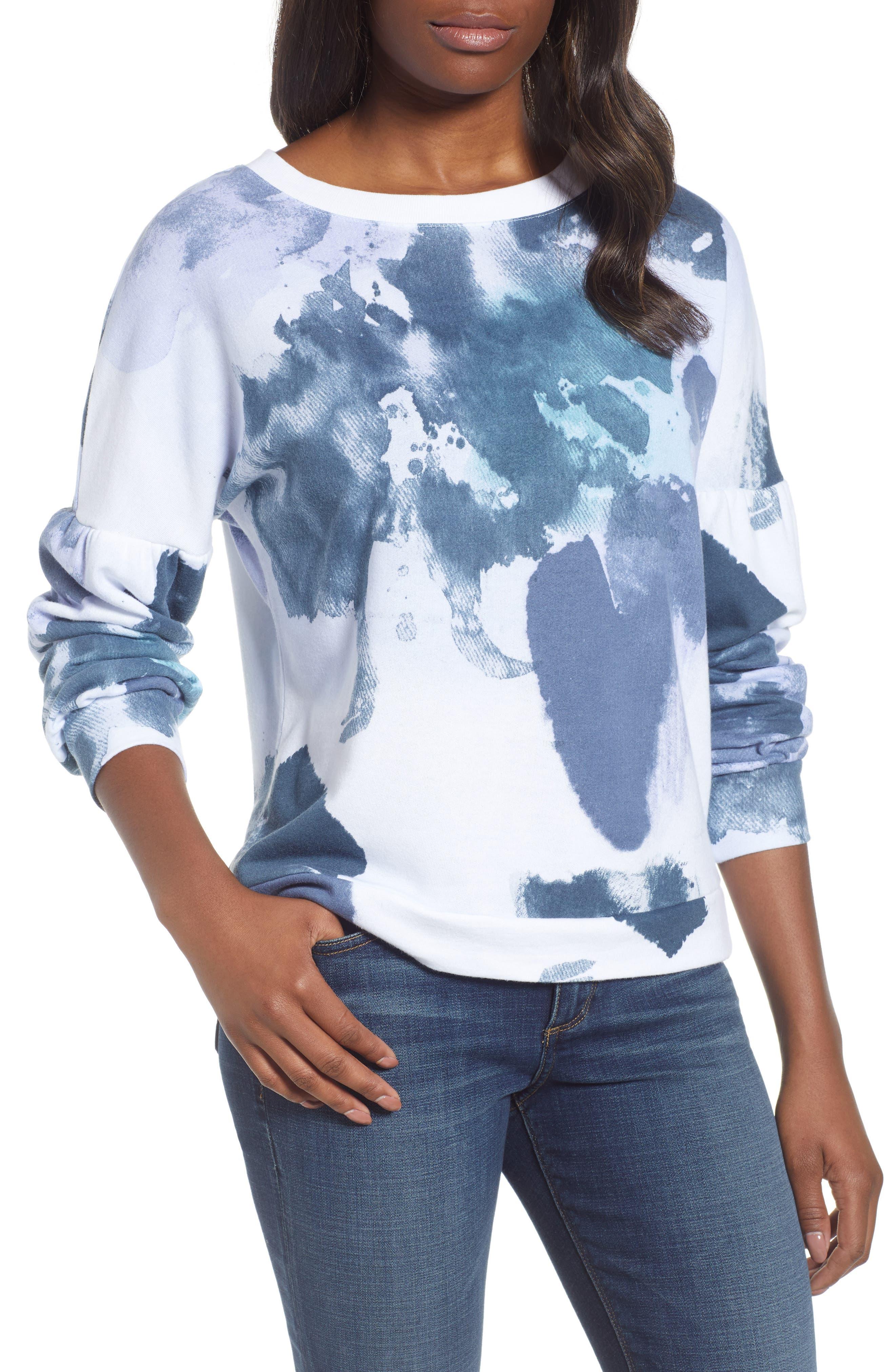 Caslon® Blouson Sleeve Sweatshirt