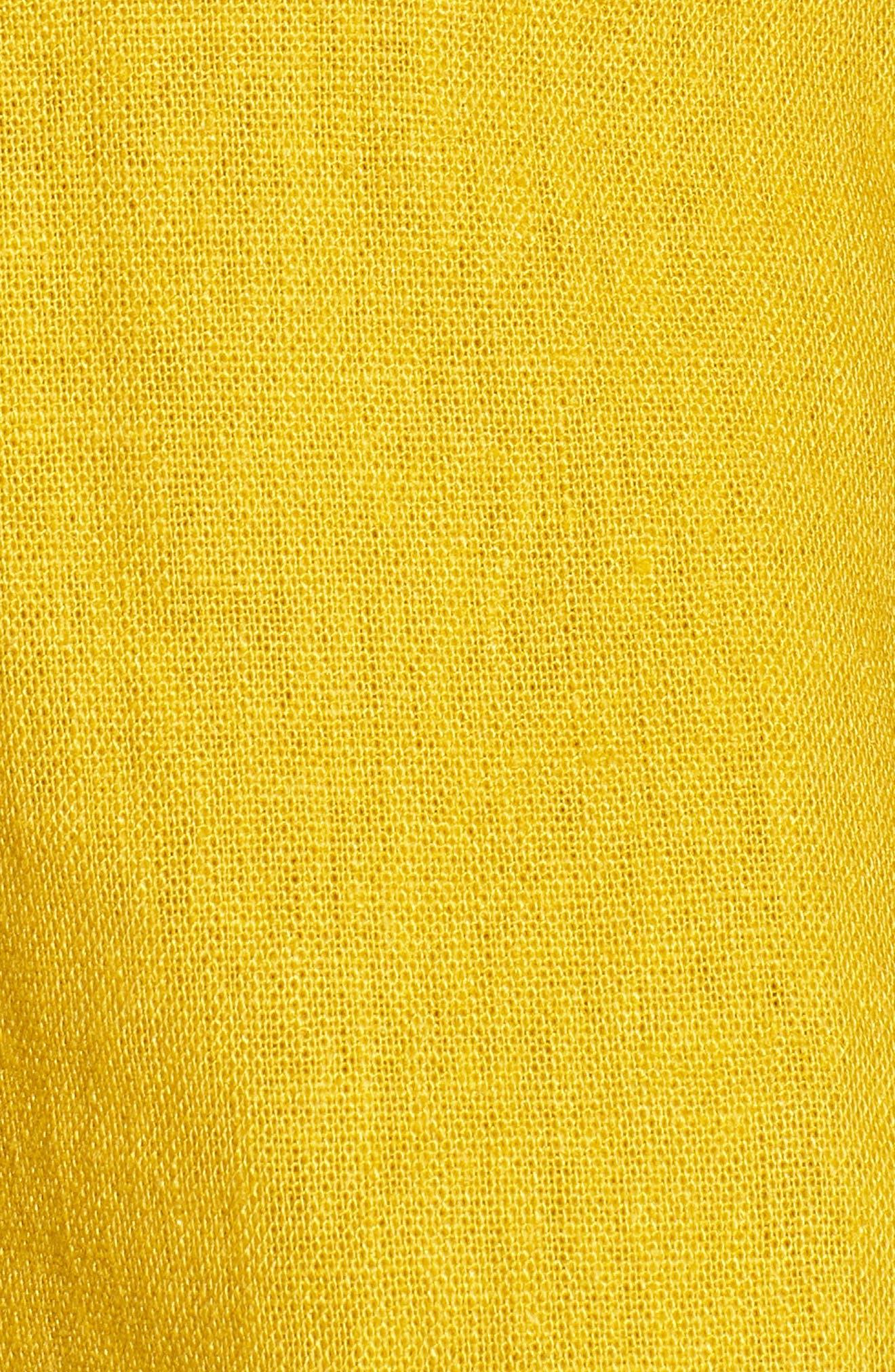 Ruffle Peplum Top,                             Alternate thumbnail 5, color,                             Mustard