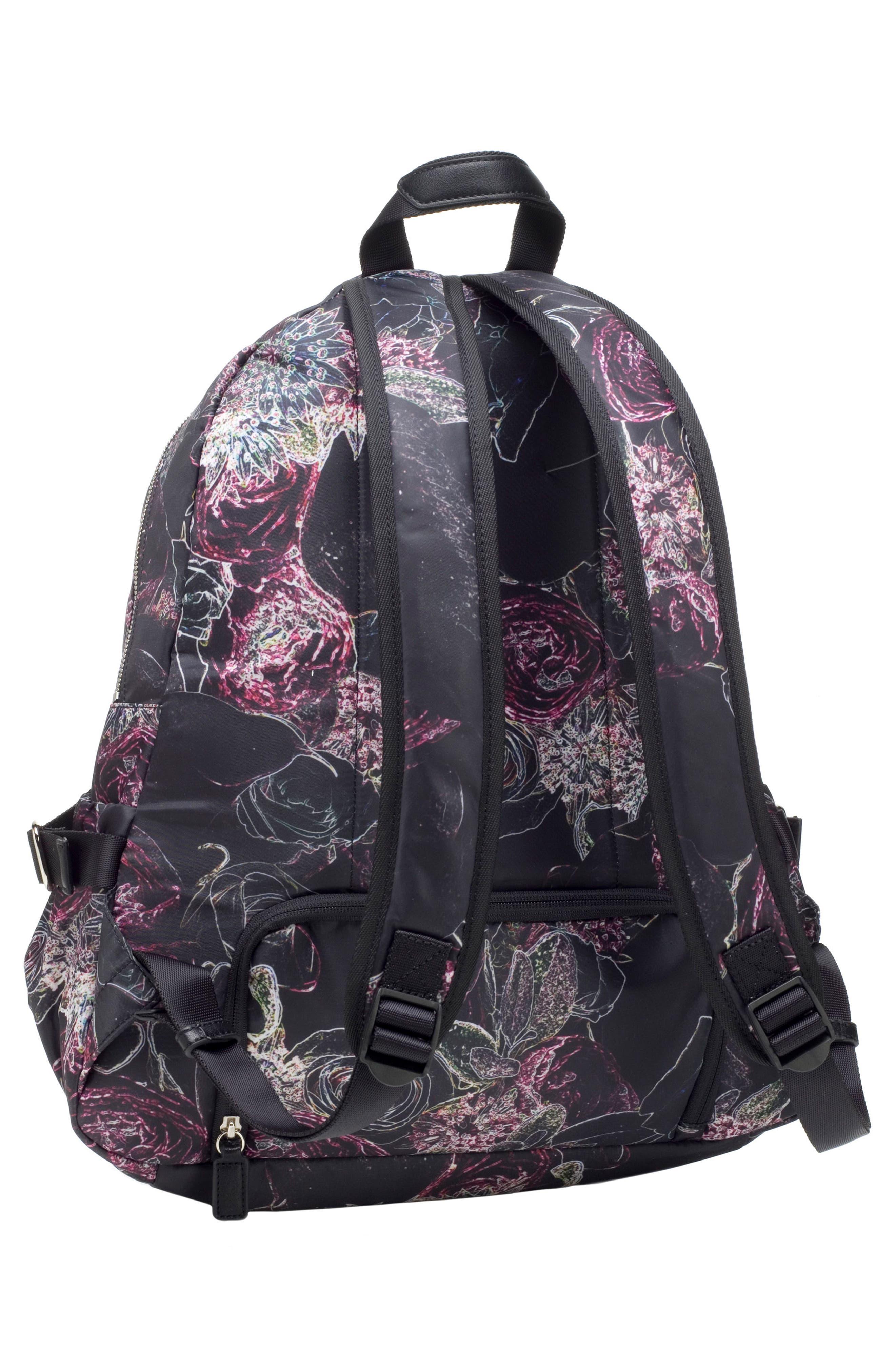 Hero Water Resistant Nylon Backpack Diaper Bag,                             Alternate thumbnail 15, color,                             Neon Floral