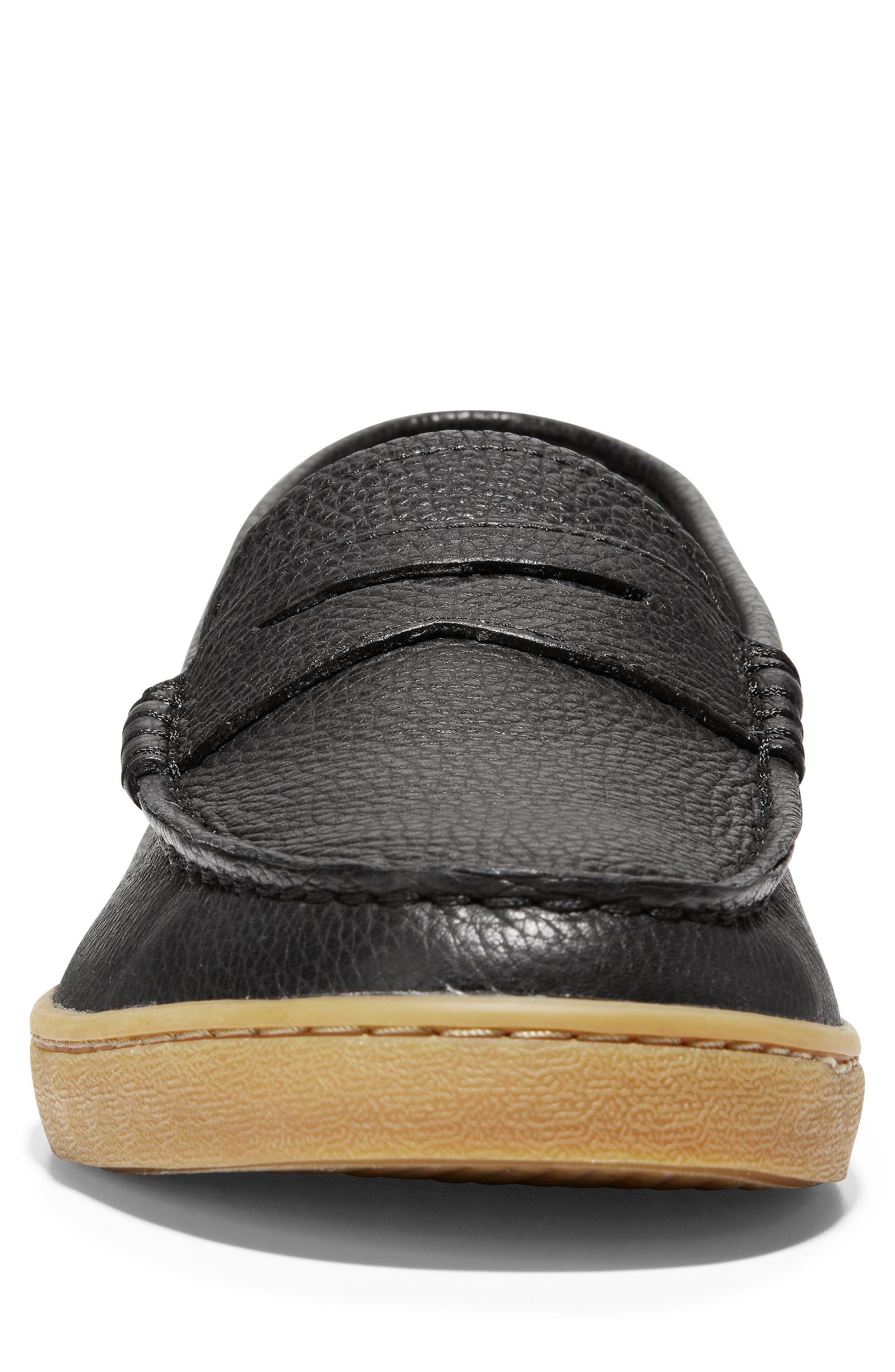 'Pinch Weekend' Penny Loafer,                             Alternate thumbnail 5, color,                             Black Tumble Leather