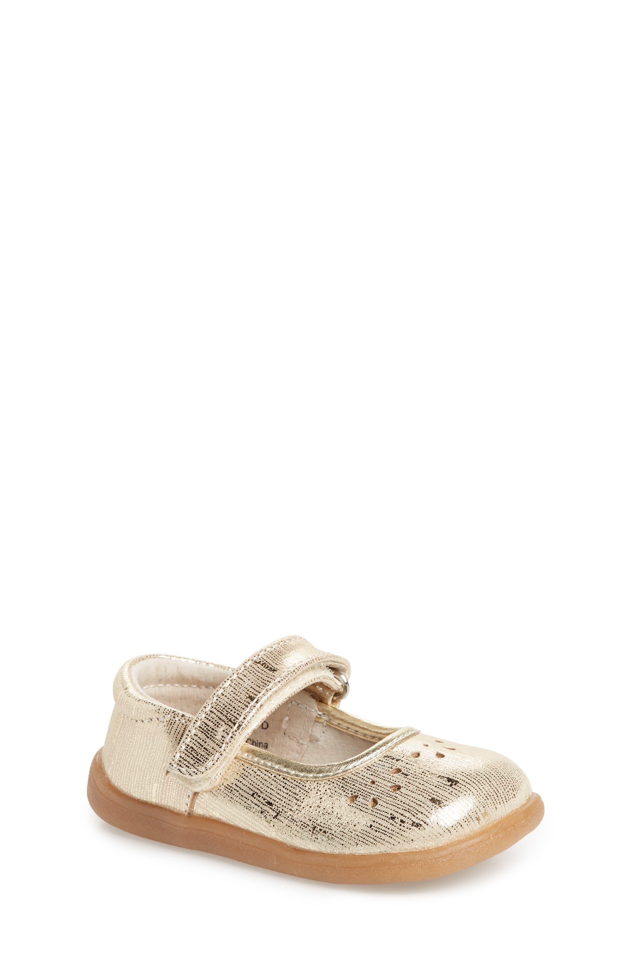 See Kai Run Ginger III Metallic Leather Mary Jane (Baby, Walker & Toddler)