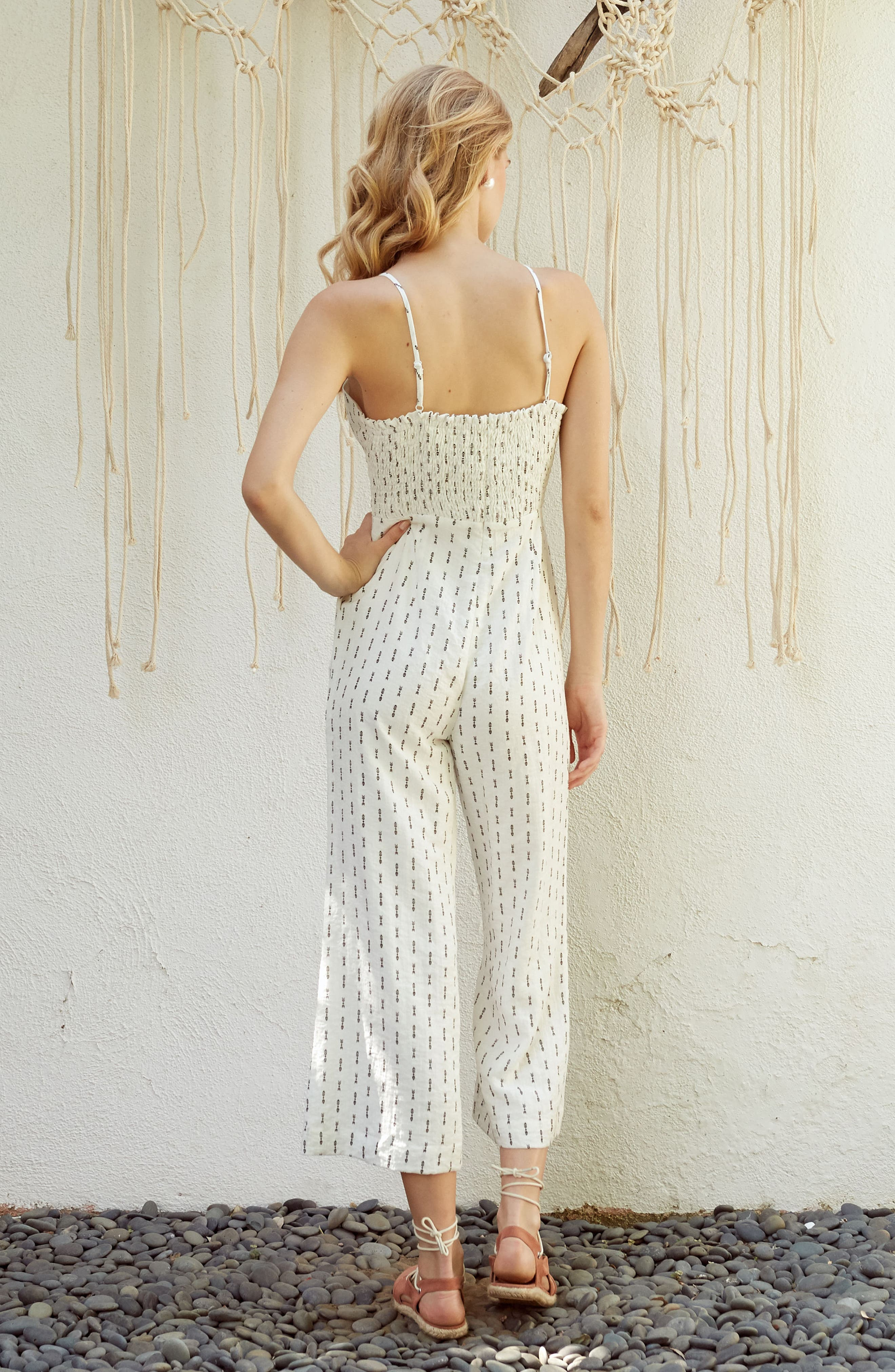 Hollywood Jumpsuit,                             Alternate thumbnail 8, color,                             White