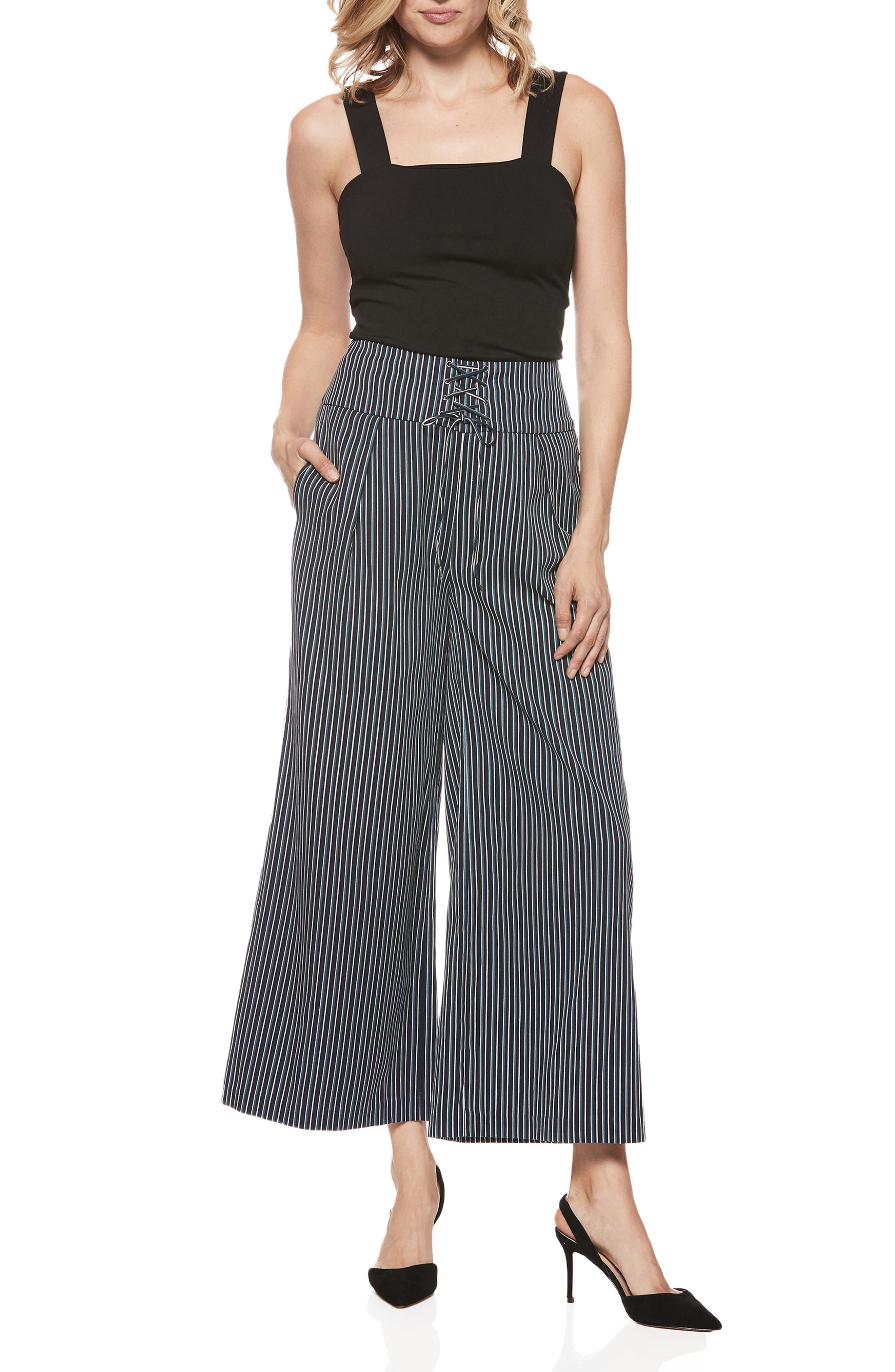Charisma Pants,                             Alternate thumbnail 3, color,                             Rich Navy Multi