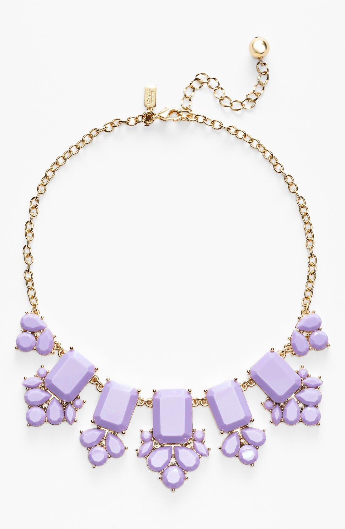'daylight jewels' statement necklace,                             Main thumbnail 1, color,                             Lilac