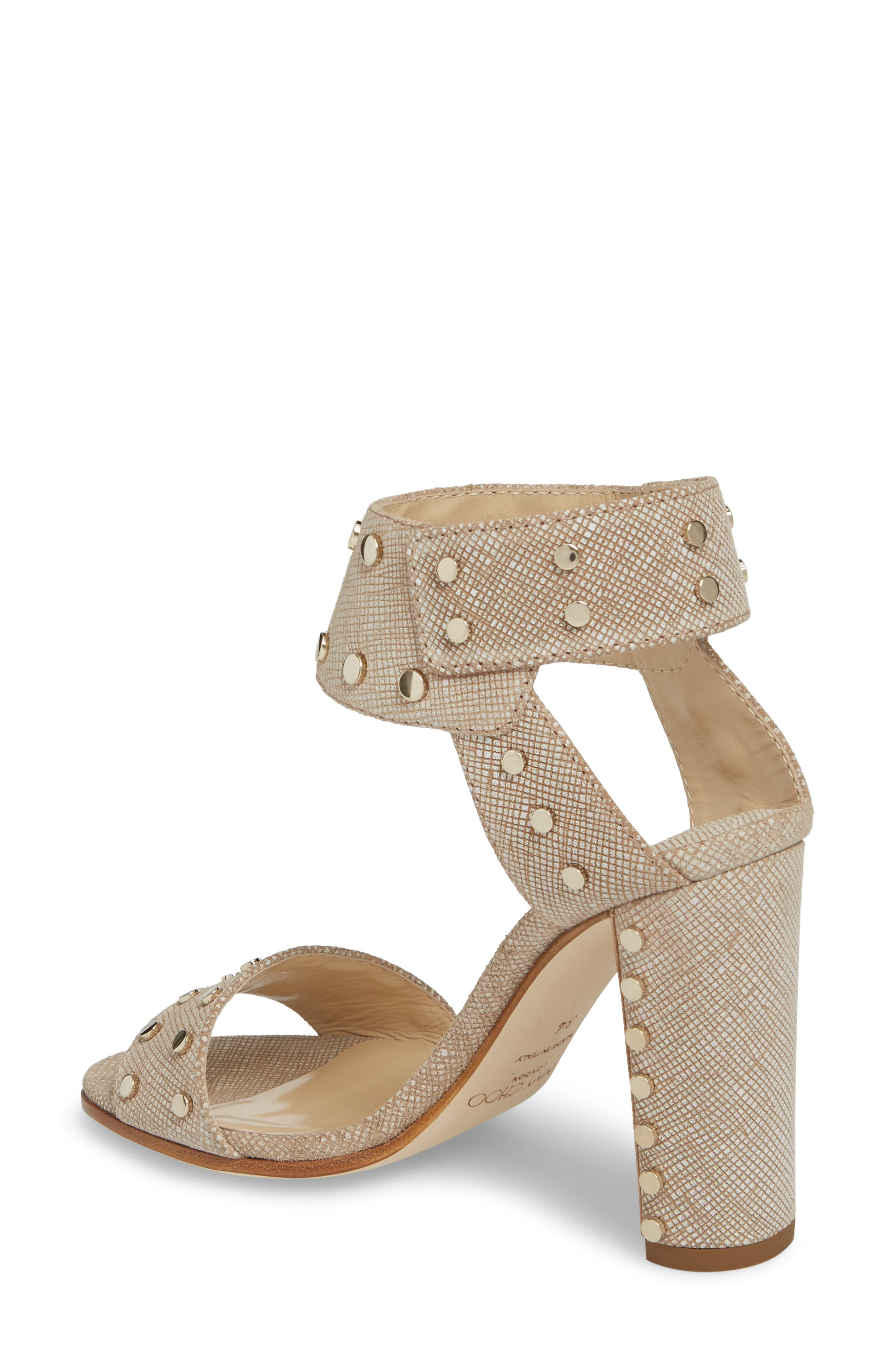 Veto Studded Ankle Cuff Sandal,                             Alternate thumbnail 2, color,                             Chai/ Gold