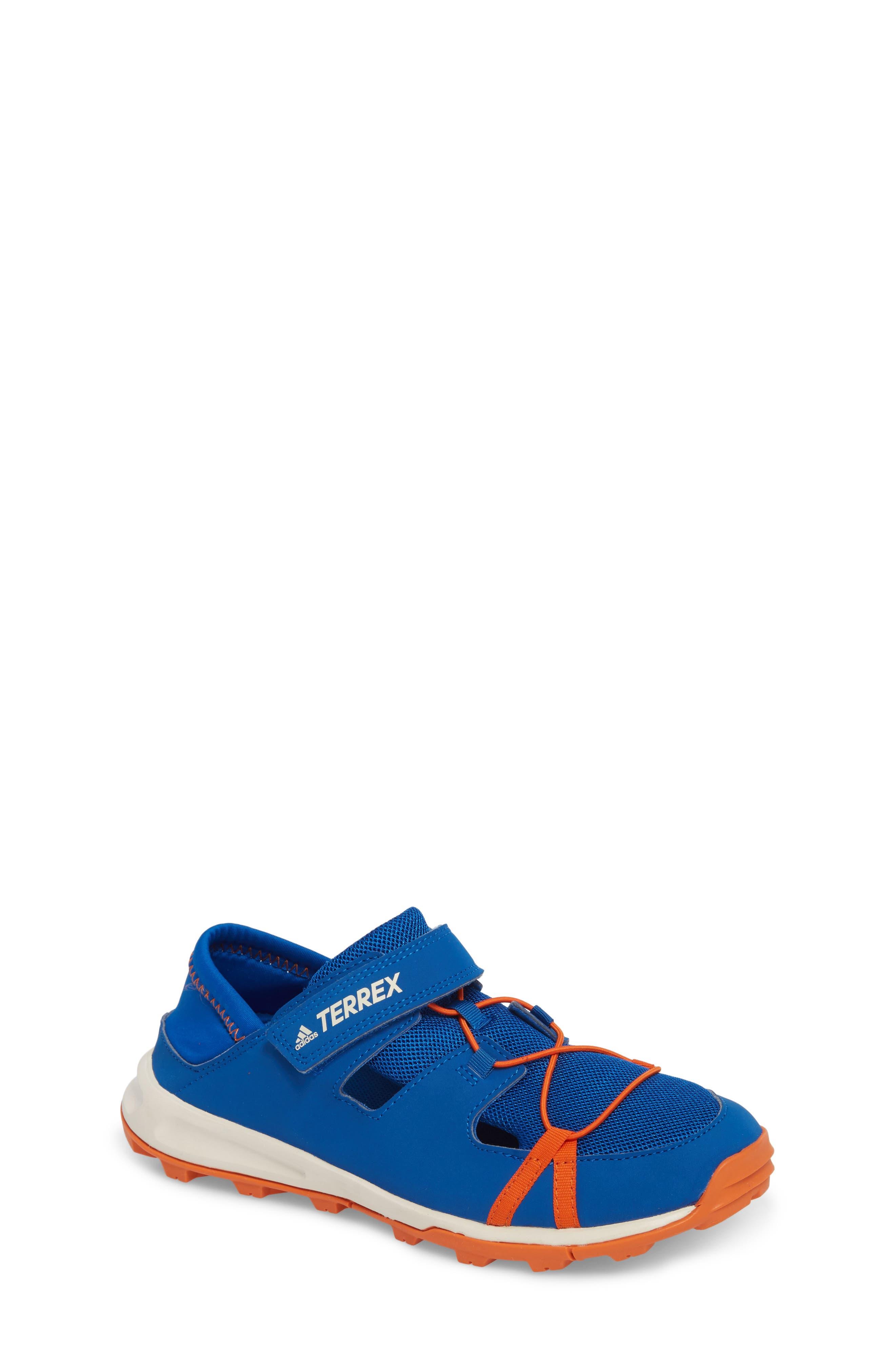 Terrex Tivid Sneaker,                             Main thumbnail 1, color,                             Blue/ Orange/ Chalk White