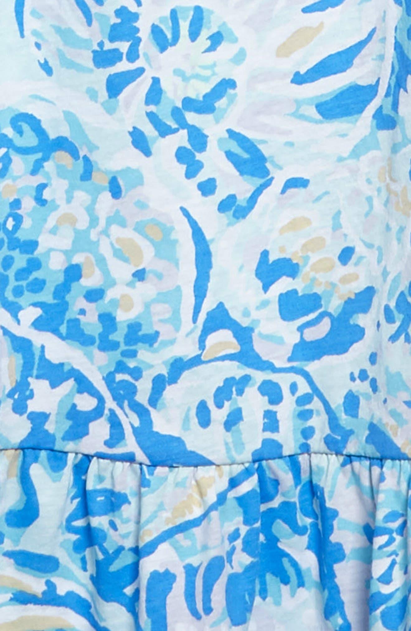 Clary Cold Shoulder Maxi Dress,                             Alternate thumbnail 3, color,                             Bennet Blue Salty Seas