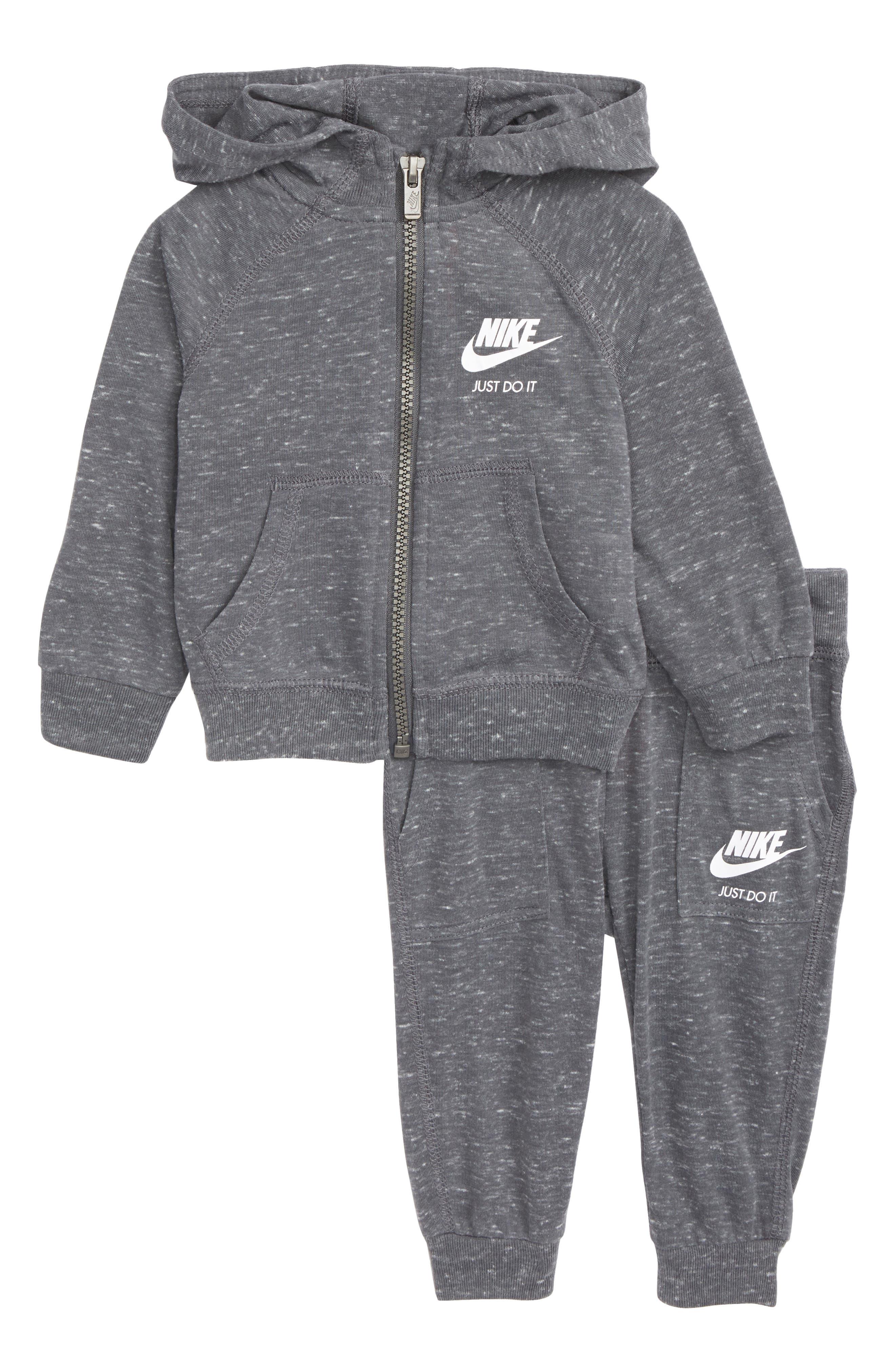 Nike Zip-Up Hoodie & Pants Set (Baby Girls)