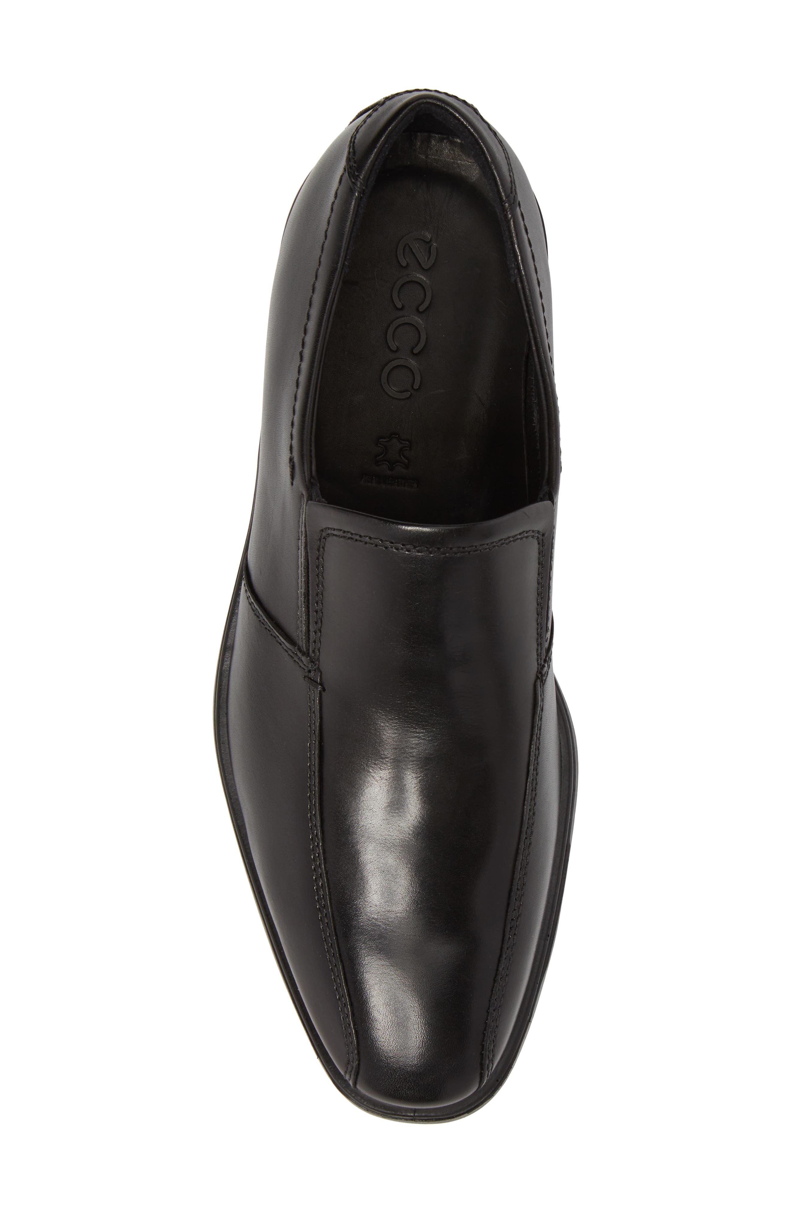 Melbourne Venetian Loafer,                             Alternate thumbnail 5, color,                             Black Leather