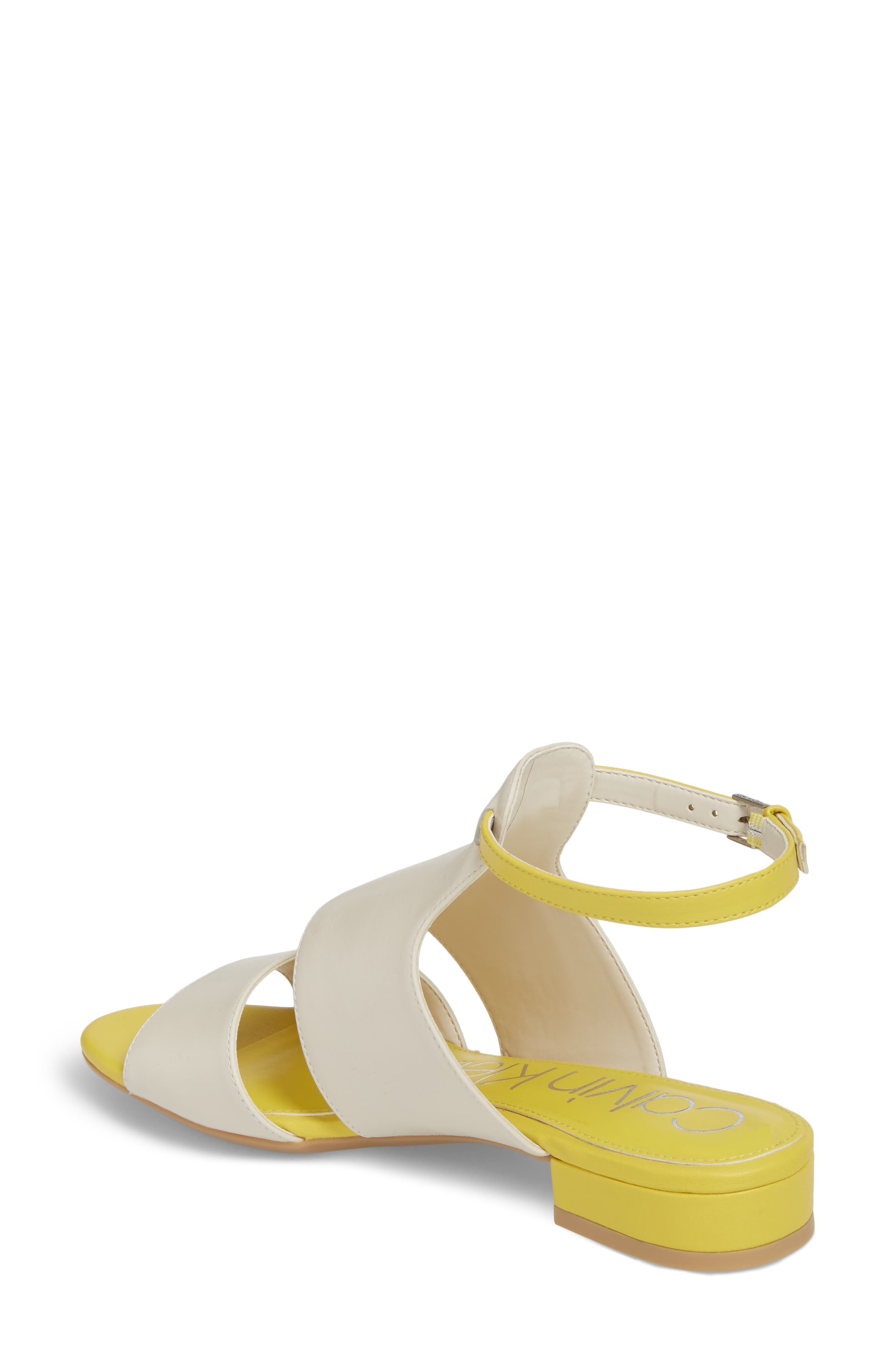 Fernarda Sandal,                             Alternate thumbnail 2, color,                             Soft White Leather