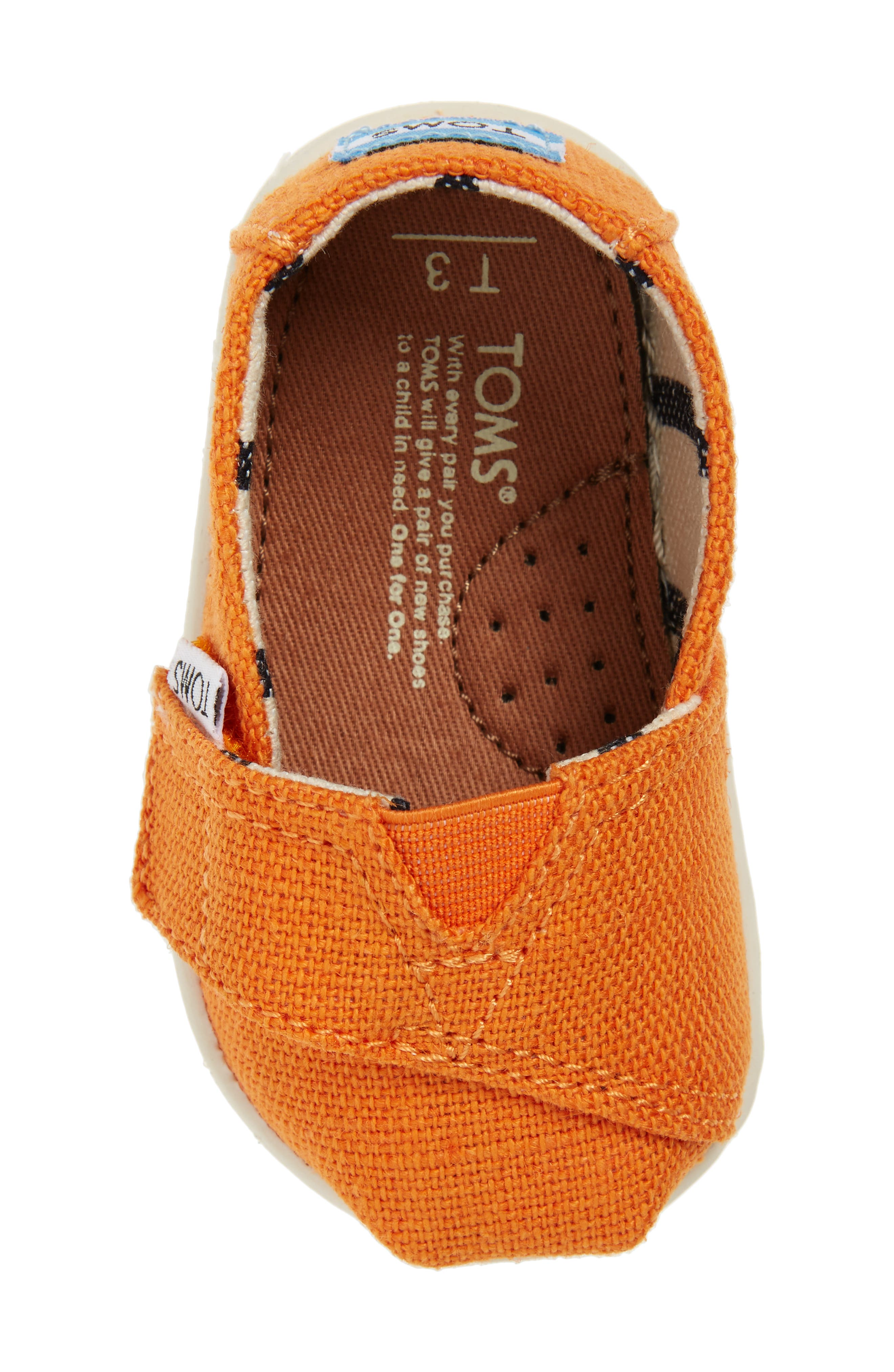 Chambray Slip-On,                             Alternate thumbnail 5, color,                             Russet Orange Heritage Canvas
