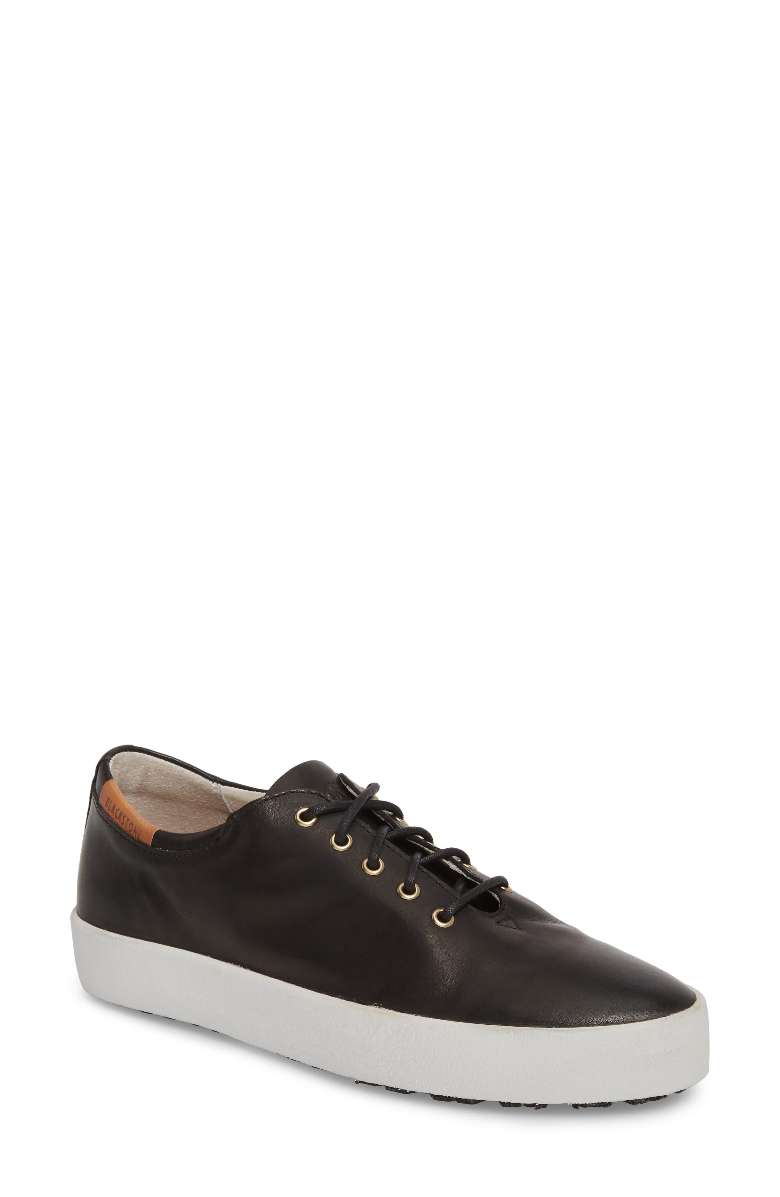 PL74 Sneaker,                             Main thumbnail 1, color,                             Black Leather