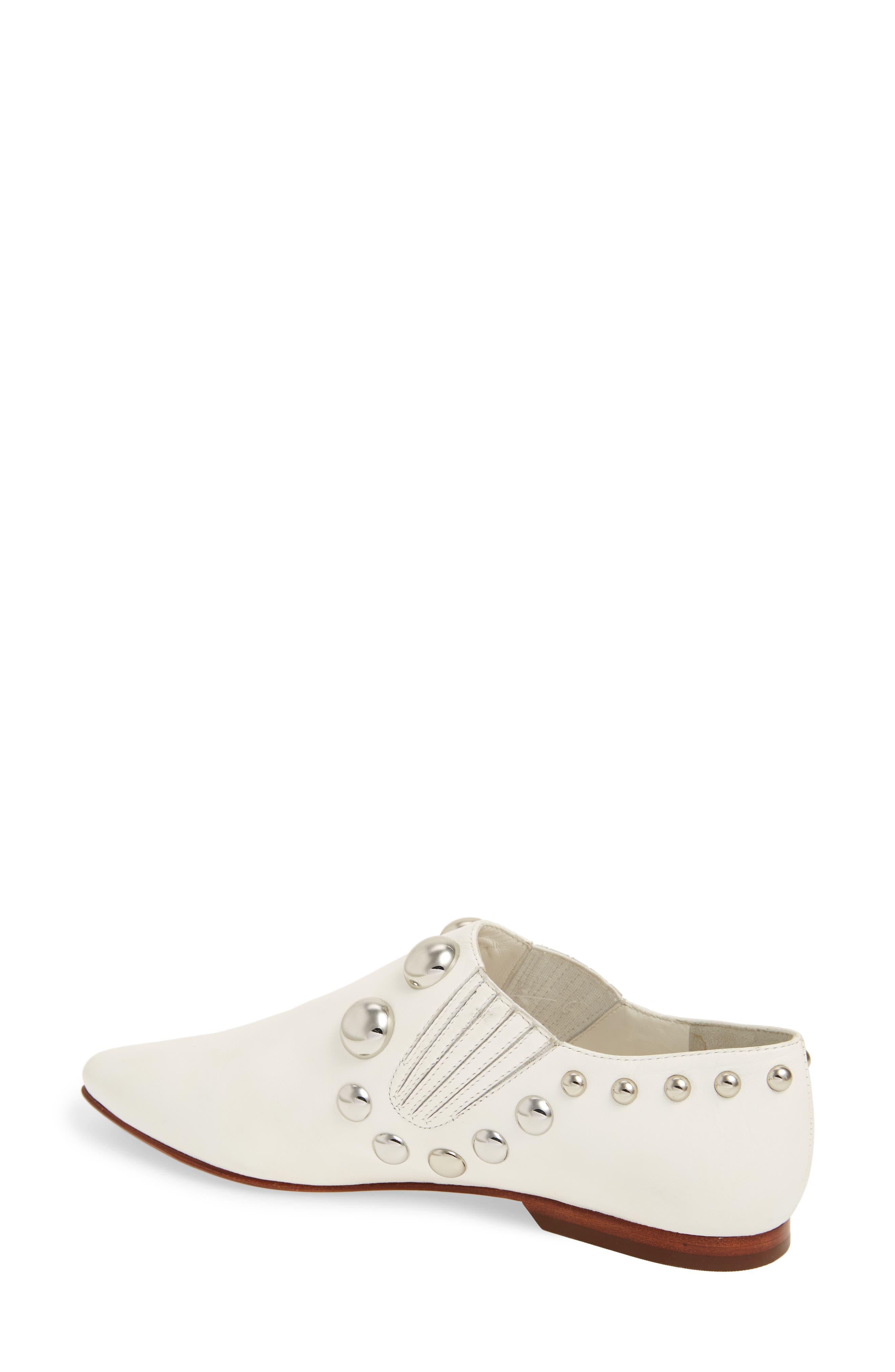 Blythe Studded Loafer,                             Alternate thumbnail 2, color,                             White