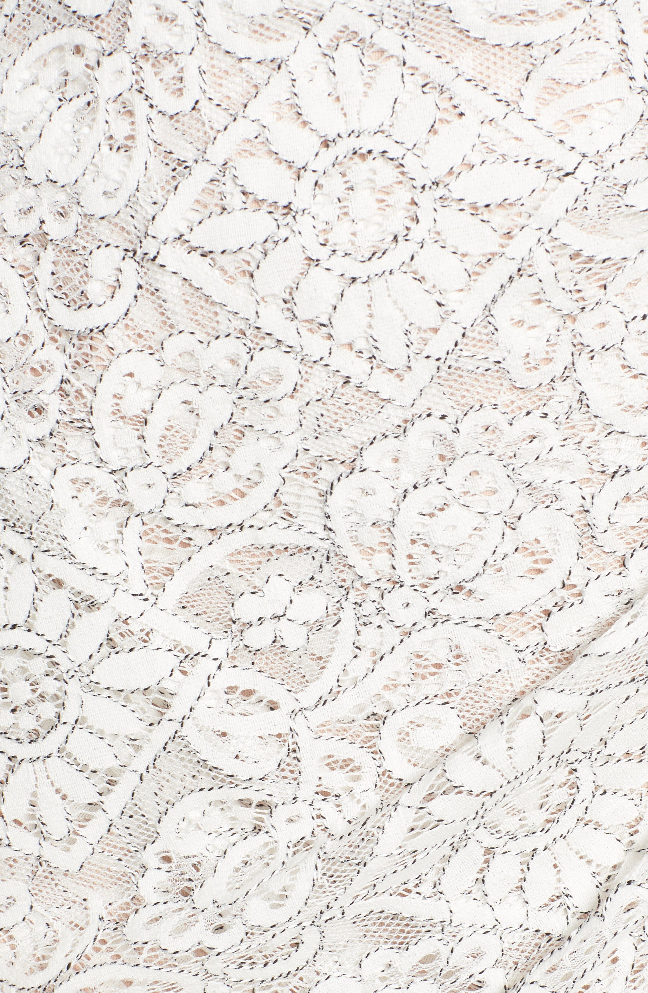 Lace Minidress,                             Alternate thumbnail 5, color,                             Ivory