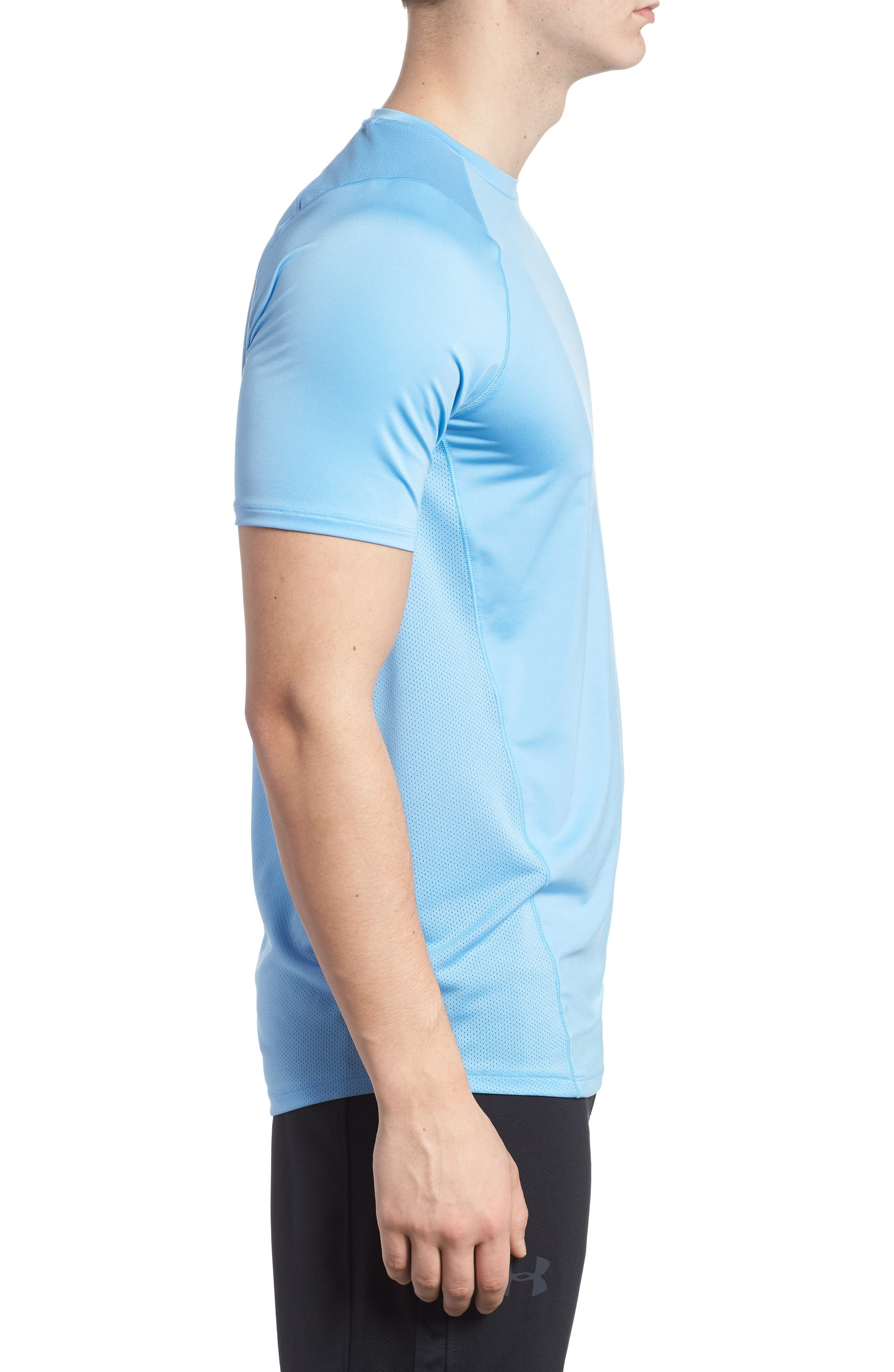Raid 2.0 Crewneck T-Shirt,                             Alternate thumbnail 3, color,                             Carolina Blue/ Steel