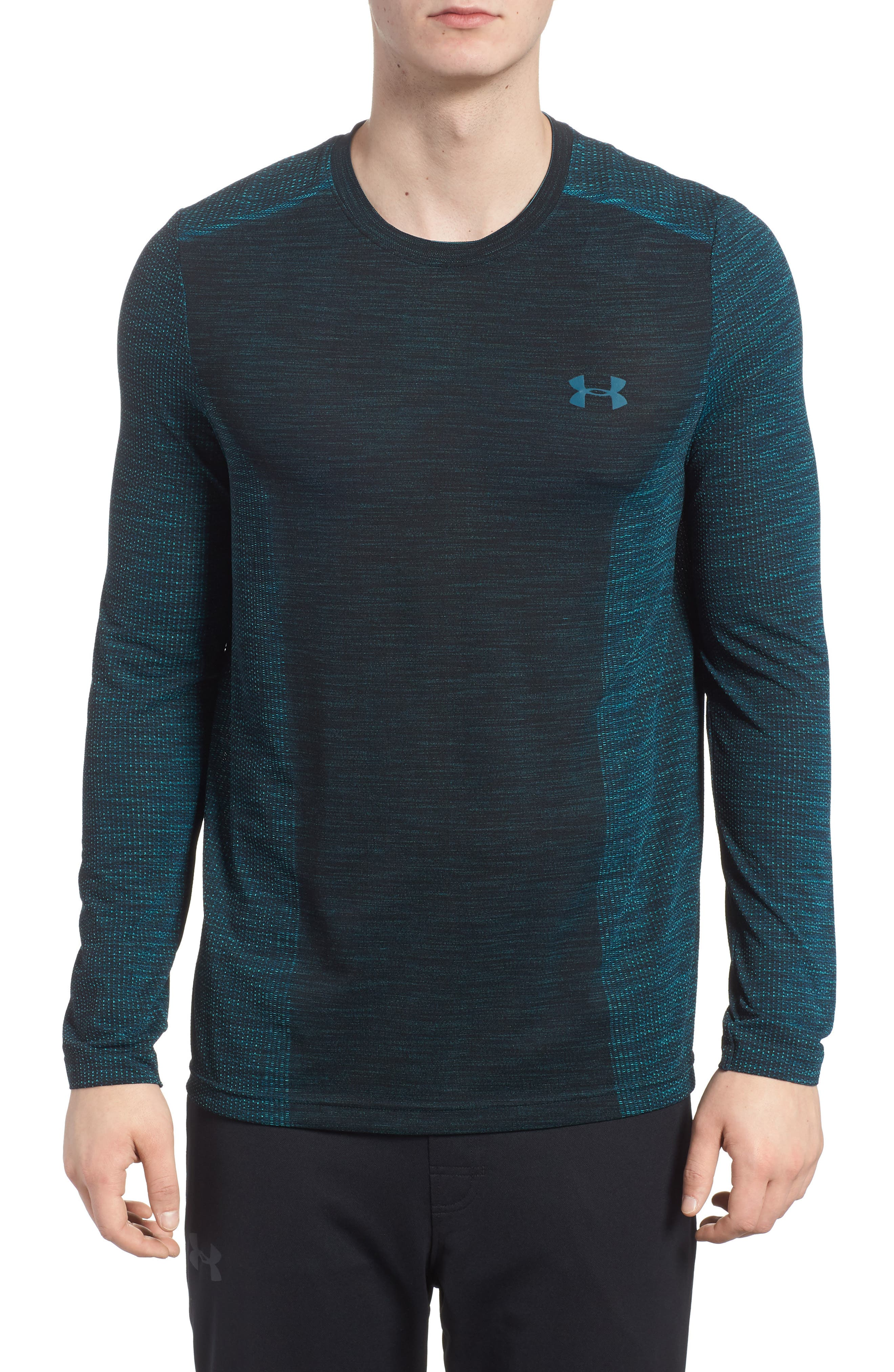 Threadborne Fitted Training T-Shirt,                         Main,                         color, Tourmaline Teal/  Teal