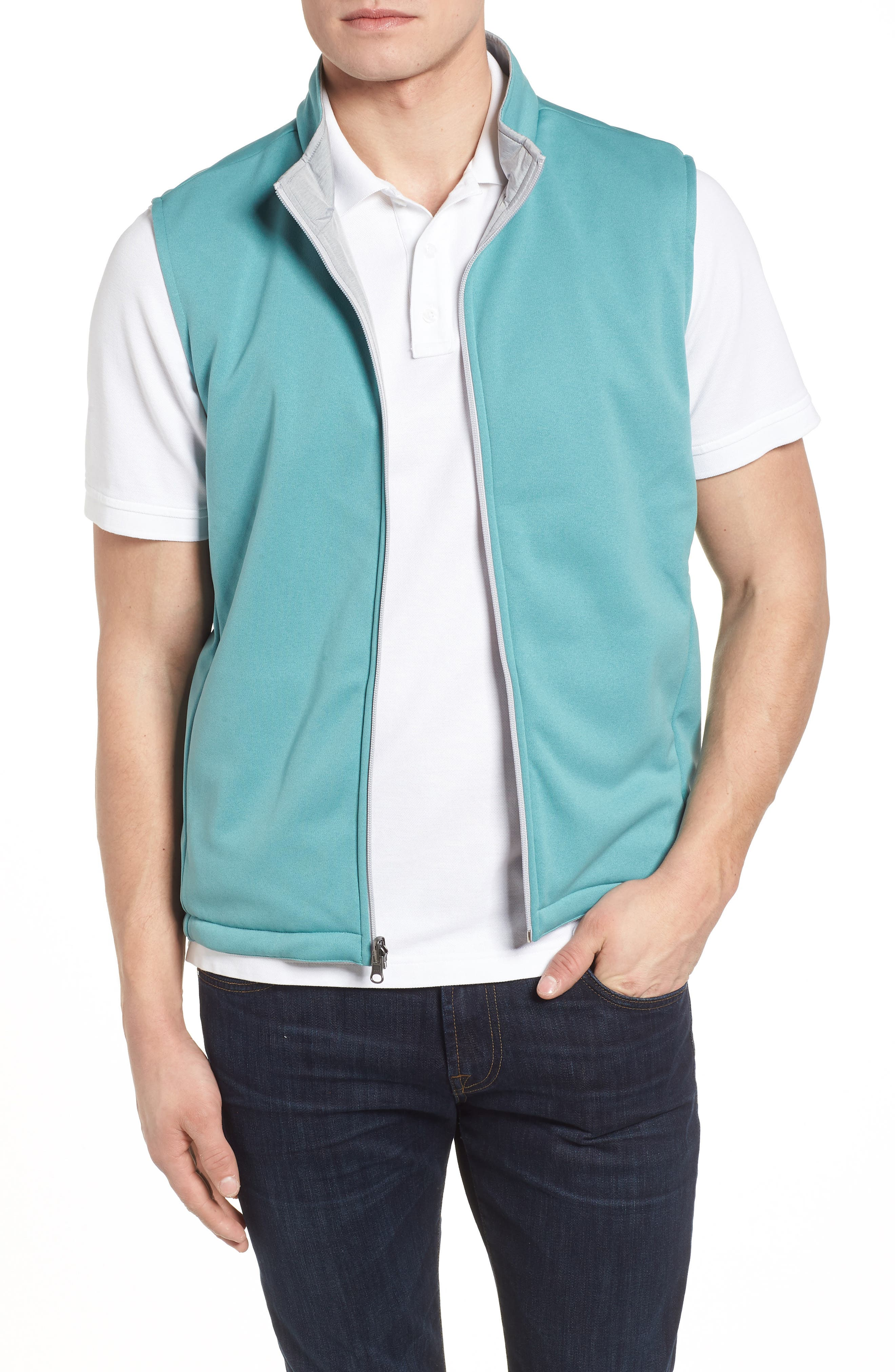 Carthage Reversible Vest,                             Alternate thumbnail 4, color,                             British Grey