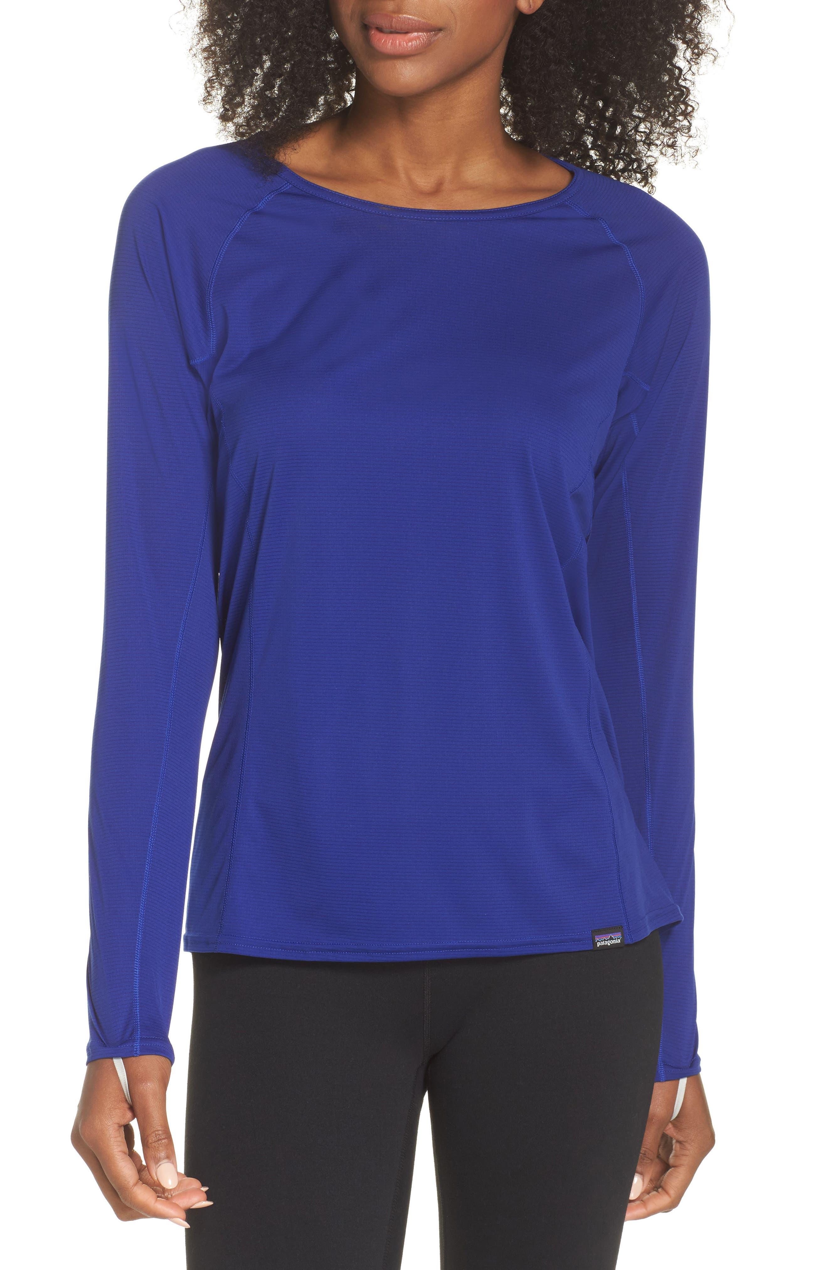 Lightweight Capilene<sup>®</sup> Long-Sleeve Tee,                         Main,                         color, Cobalt Blue