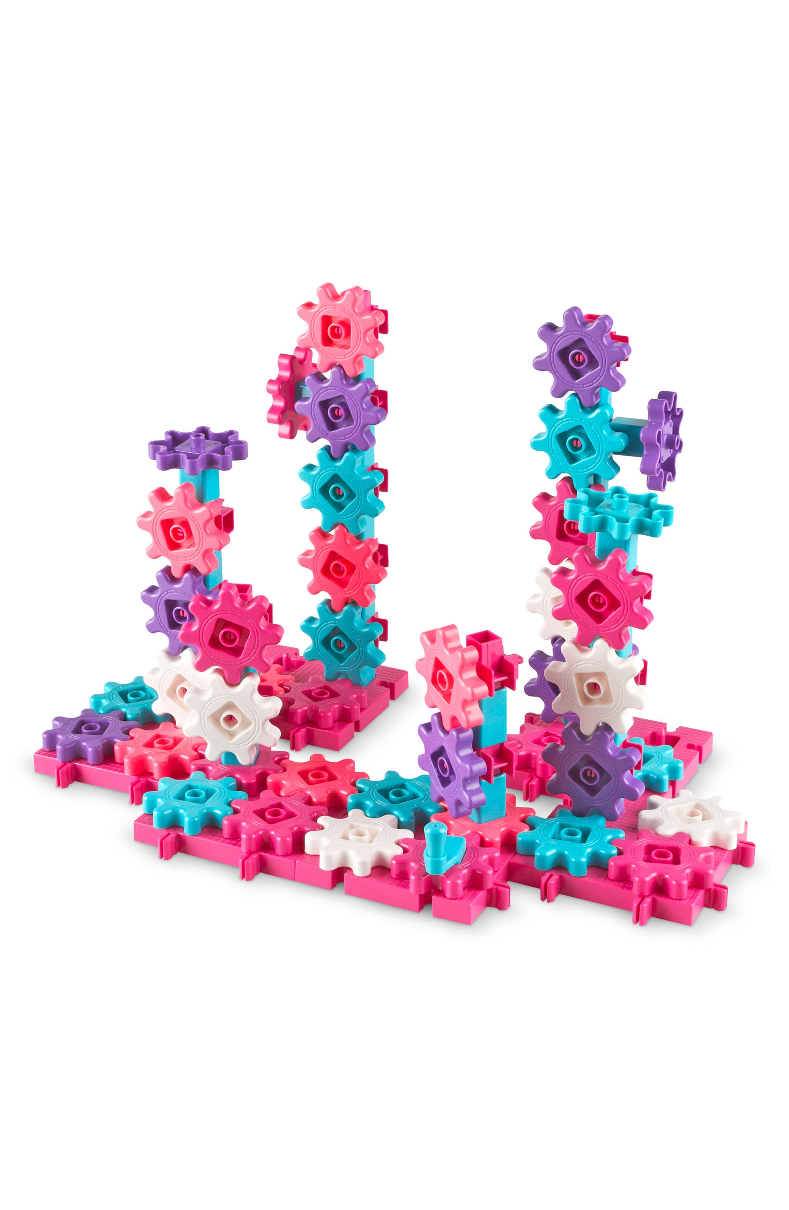 Learning Resources Gears! Gears! Gears!<sup>®</sup> Beginner's Building Set,                             Main thumbnail 1, color,                             Pink