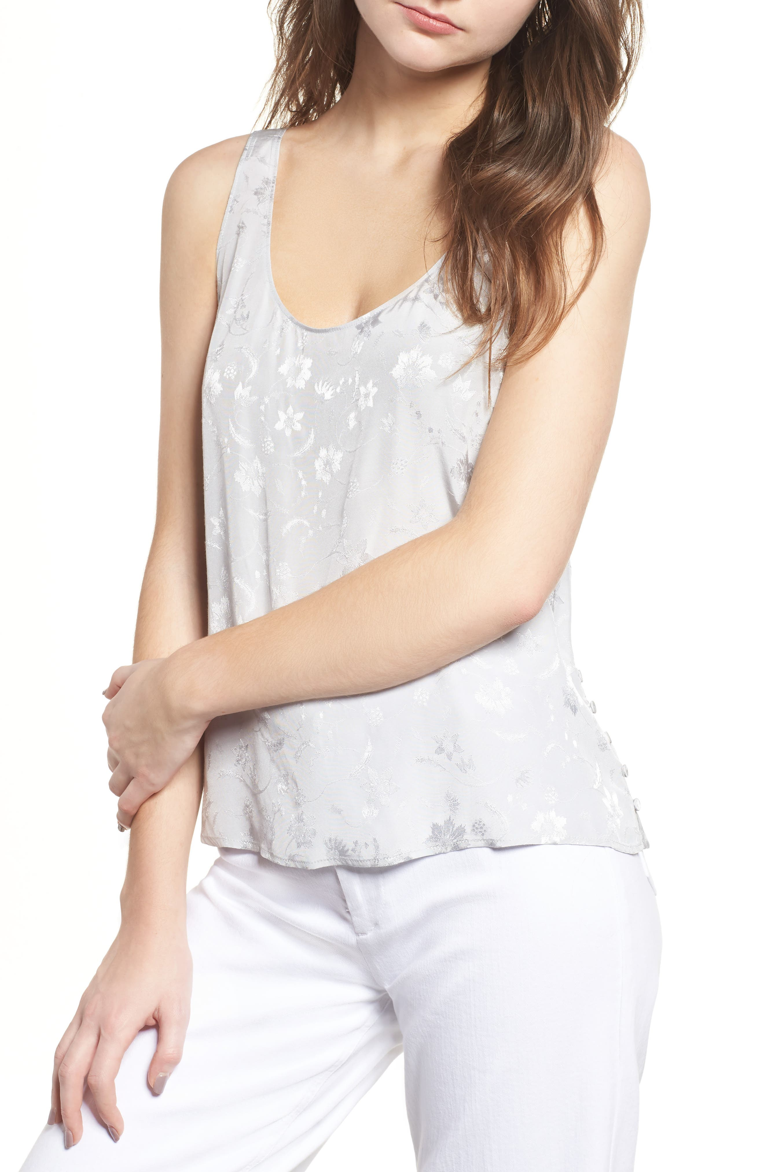 Chelsea28 Jacquard Side Button Tank